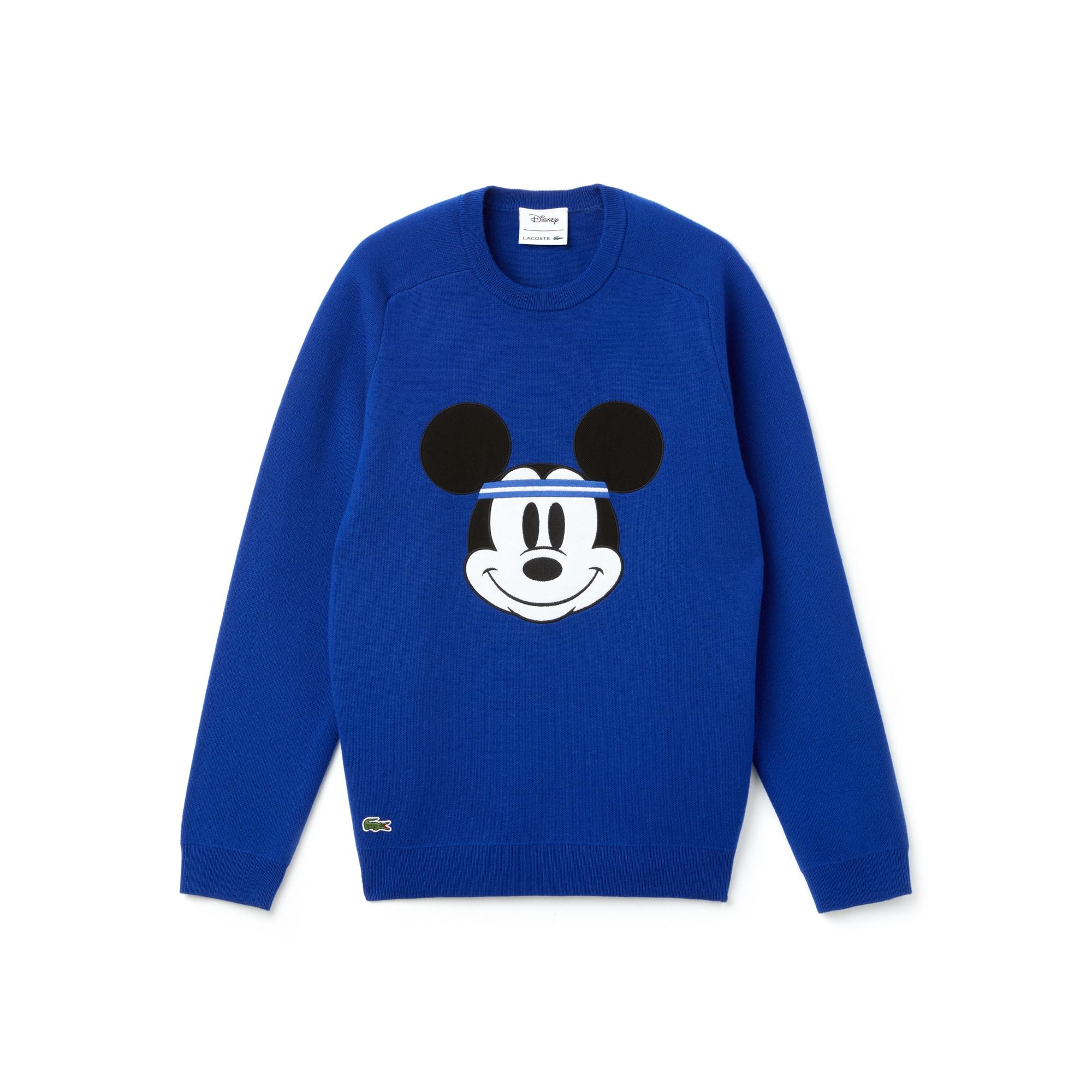 라코스테 Lacoste Mens Crew Neck 샵디즈니 Disney Mickey Embroidery Interlock Sweater,steamer/steamer