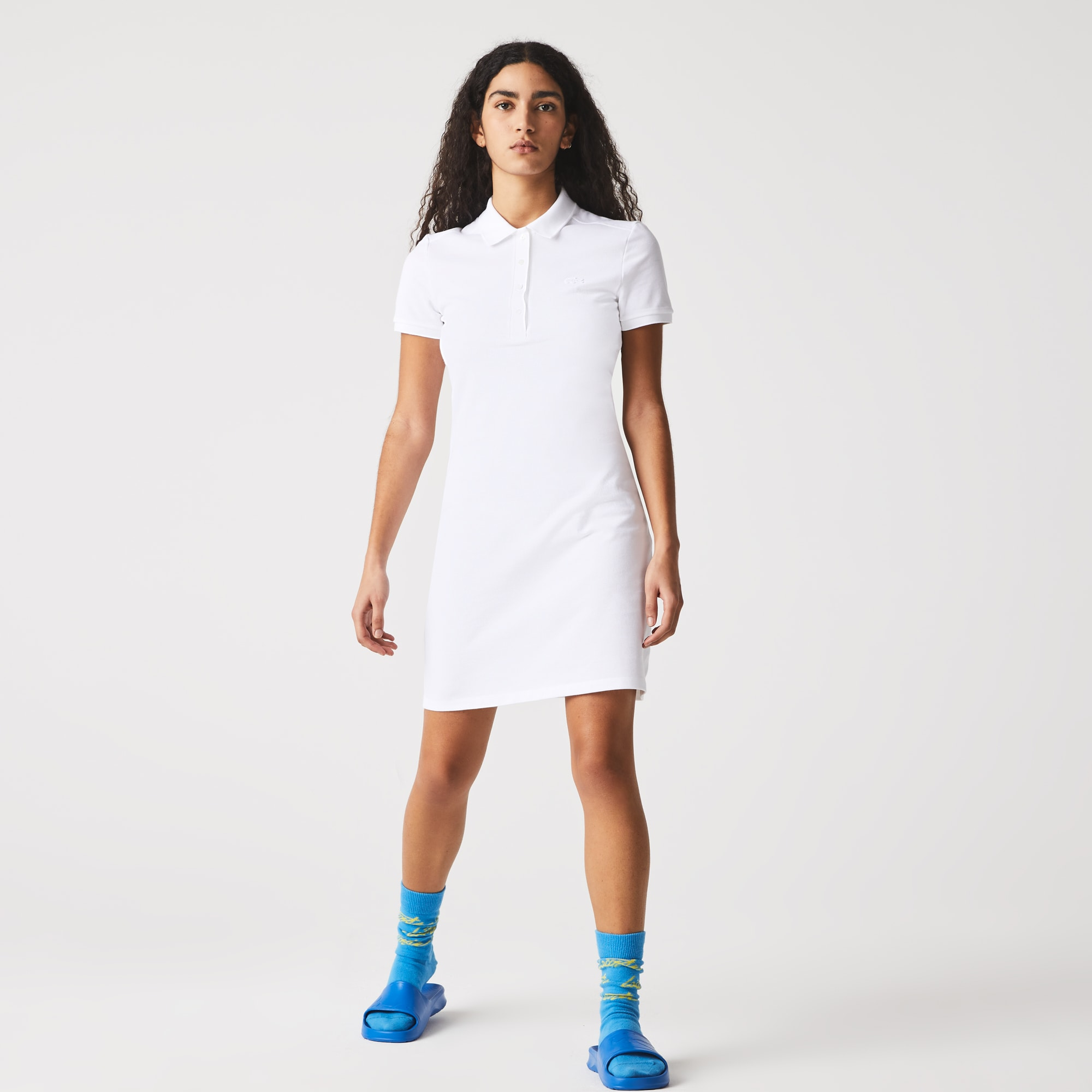 라코스테 폴로 원피스 Lacoste Womens Stretch Cotton Pique Polo Dress