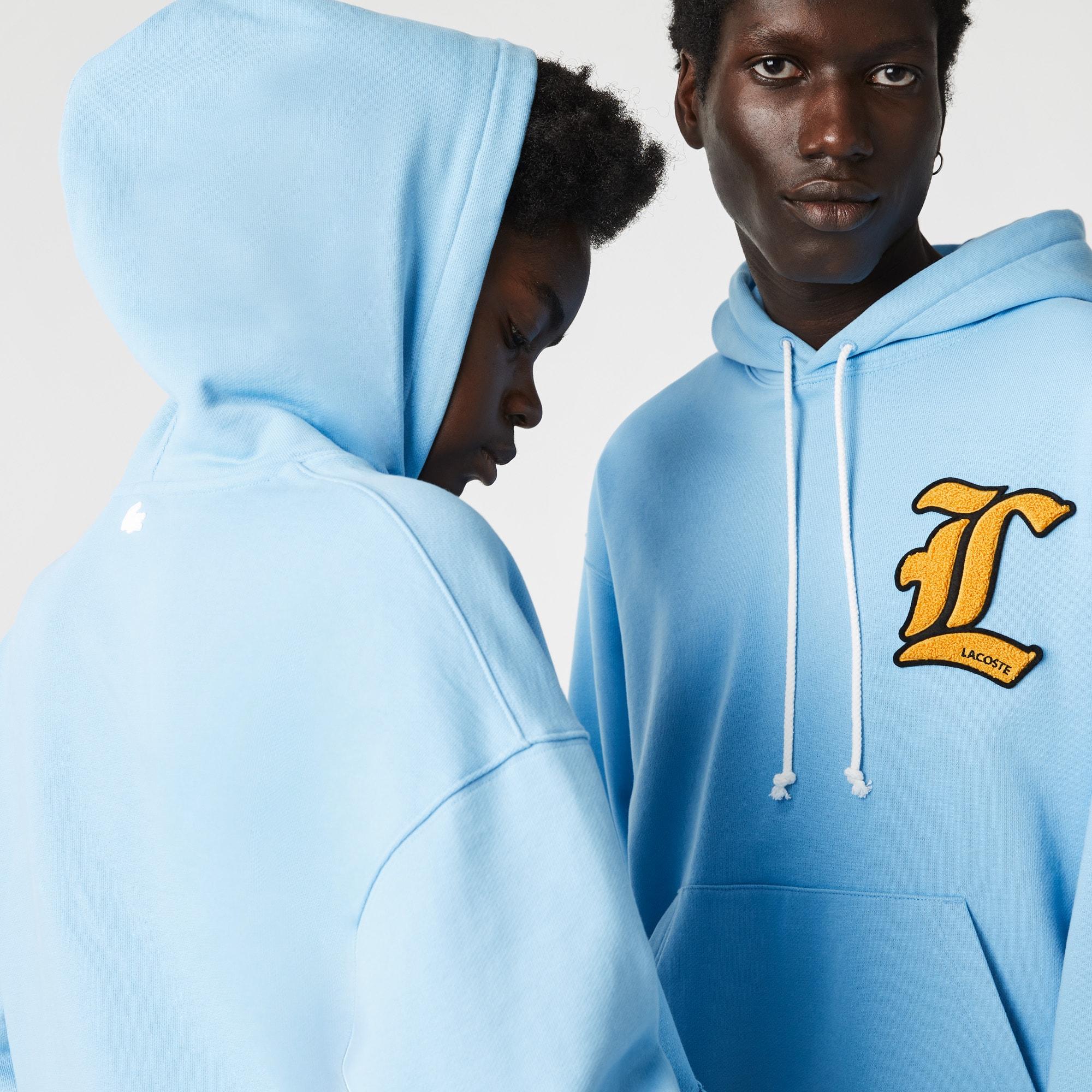 라코스테 라이브 남녀공용 후드티 Lacoste Unisex LIVE L Badge Hooded Loose Fit Sweatshirt