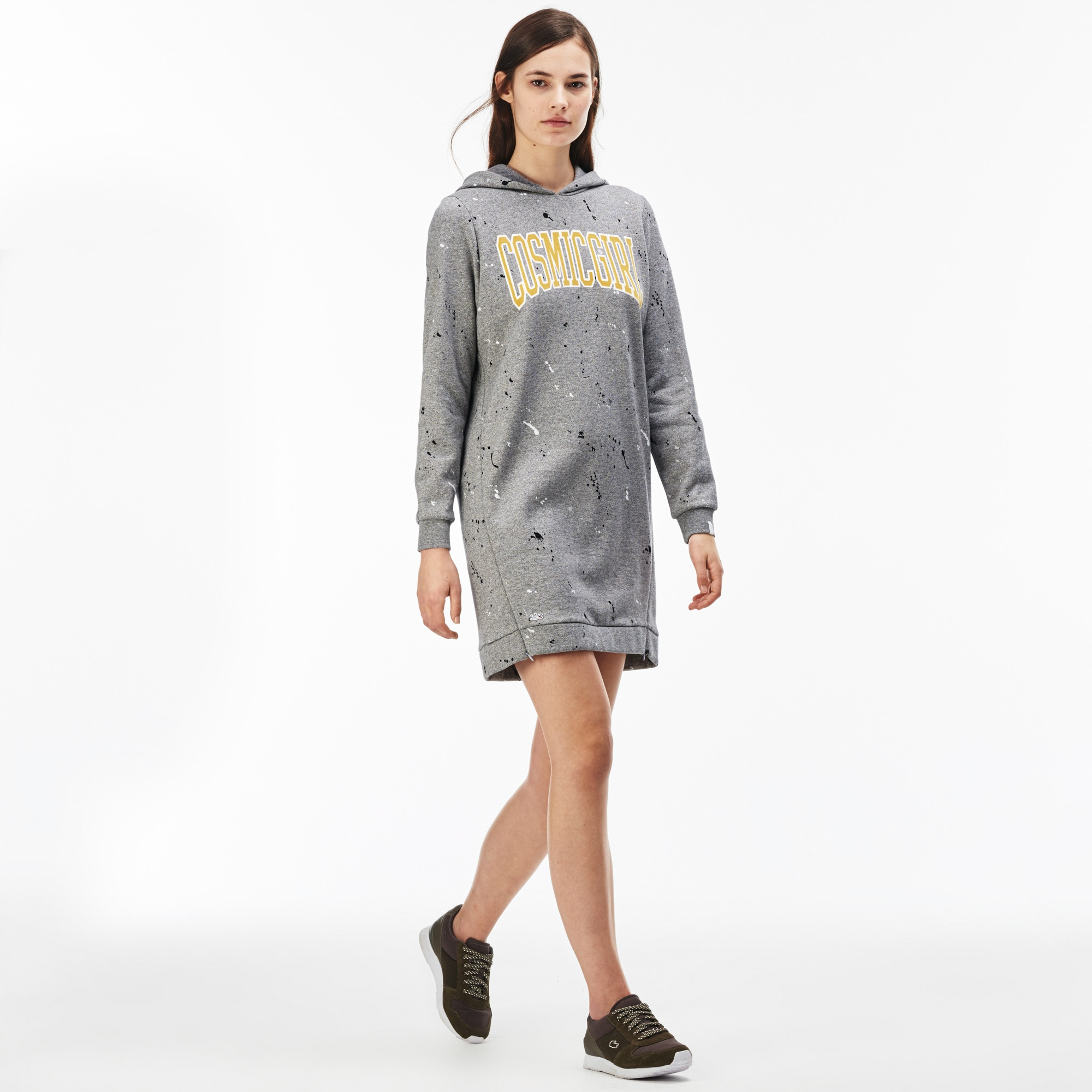 Women's  LIVE Cosmicgirl Print Fleece Sweatshirt Dress