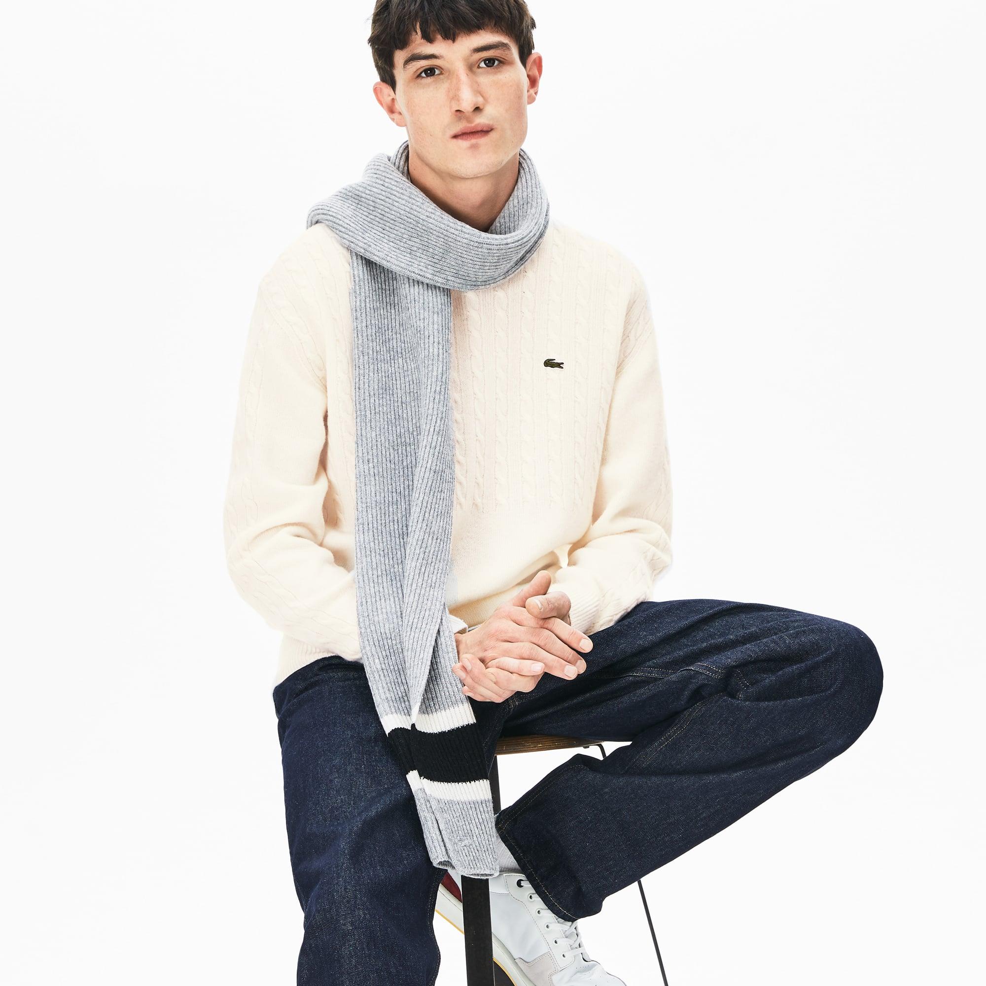 Lacoste Lingerie Men's Cable-Knit Alpaca Blend Sweater