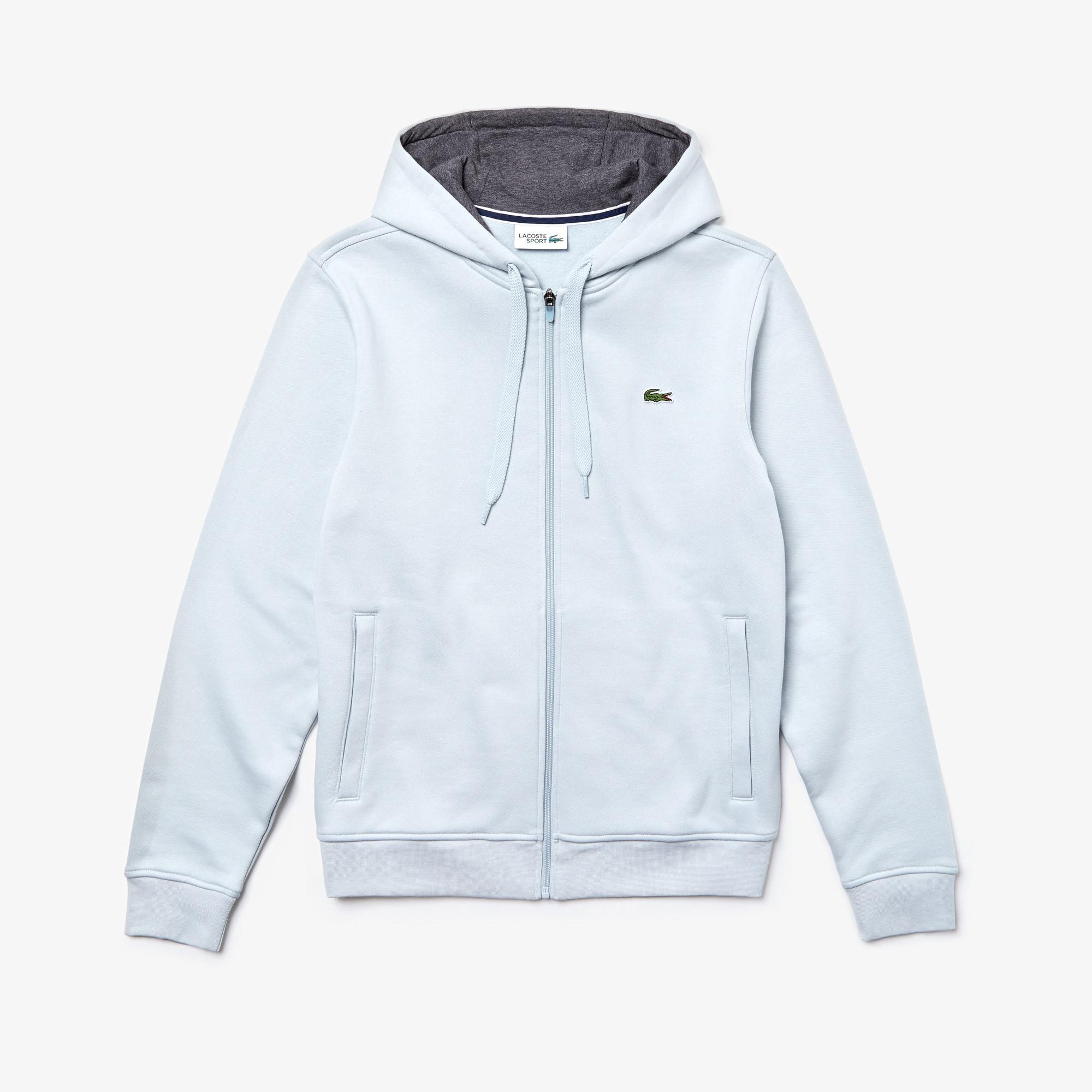 라코스테 Lacoste Mens SPORT Tennis Fleece Zip Up,grey / grey chine