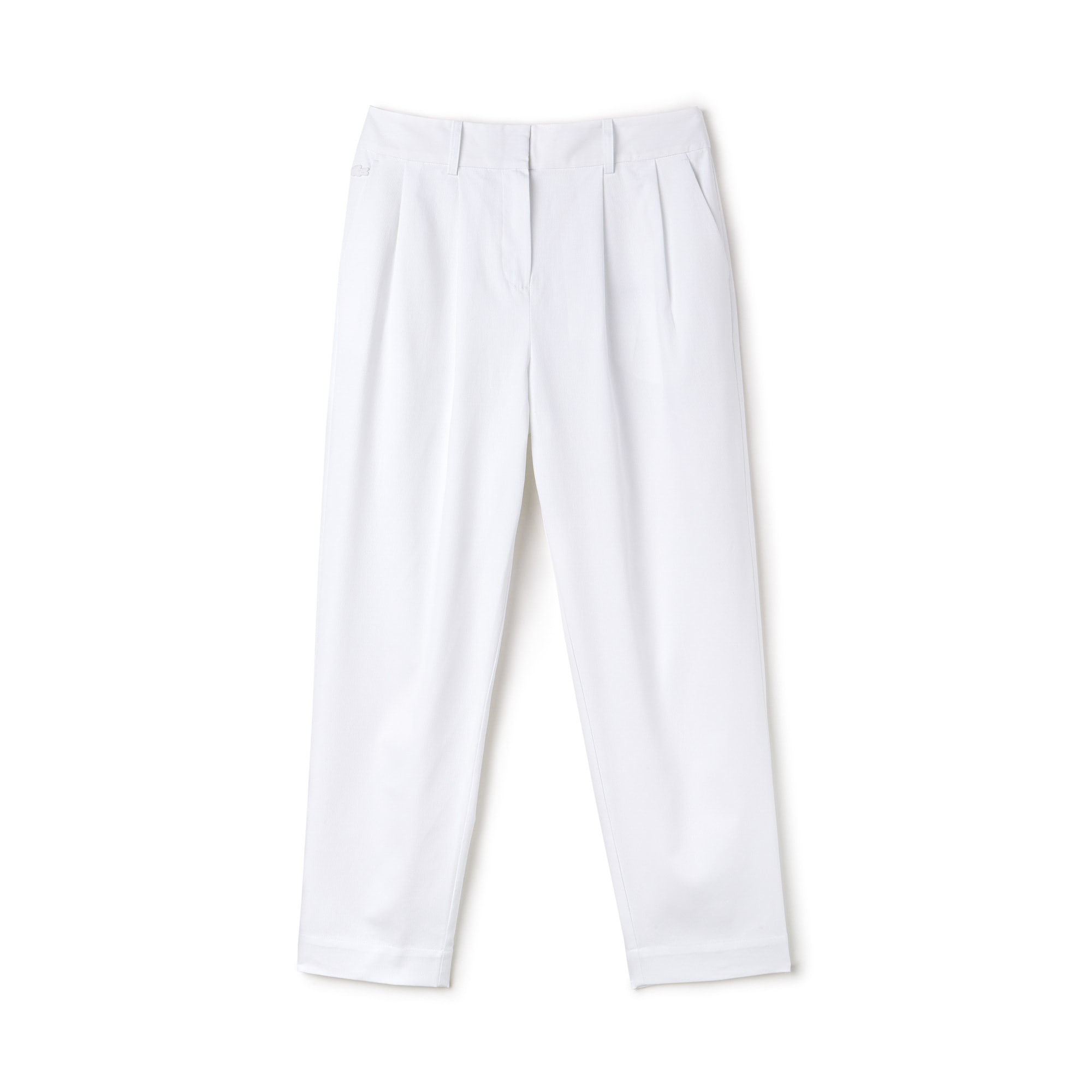 Women's Cotton Pleated Carrot Pants