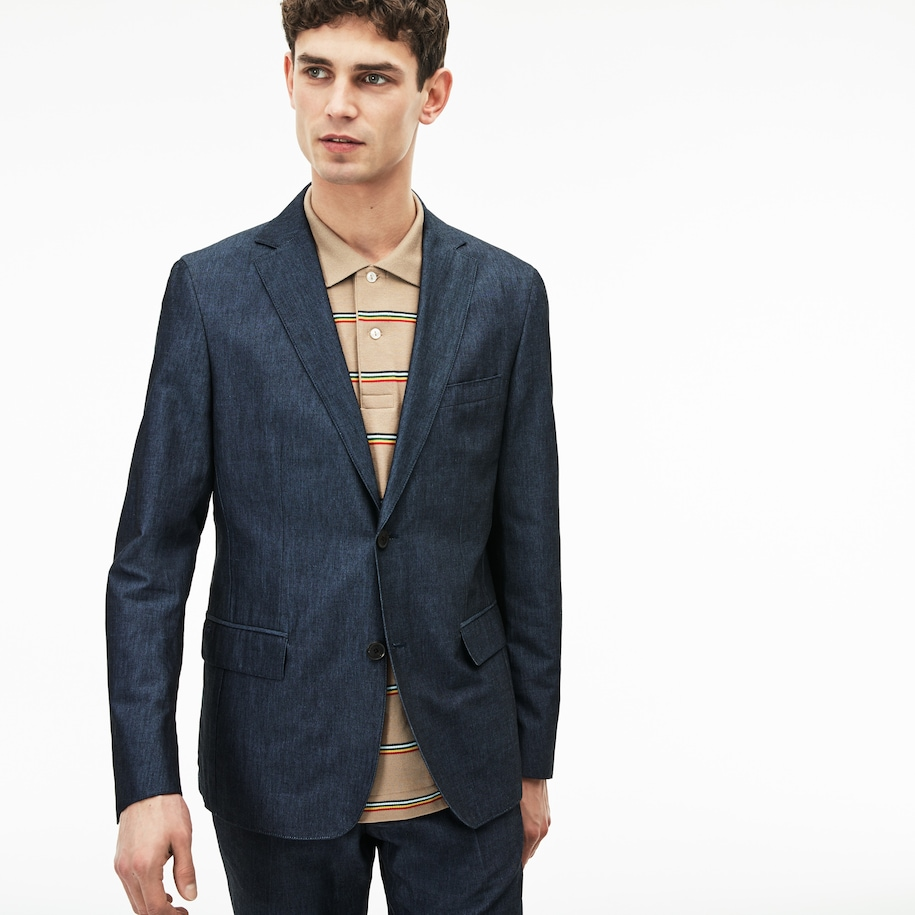 Men's Thick Cotton And Linen Blazer