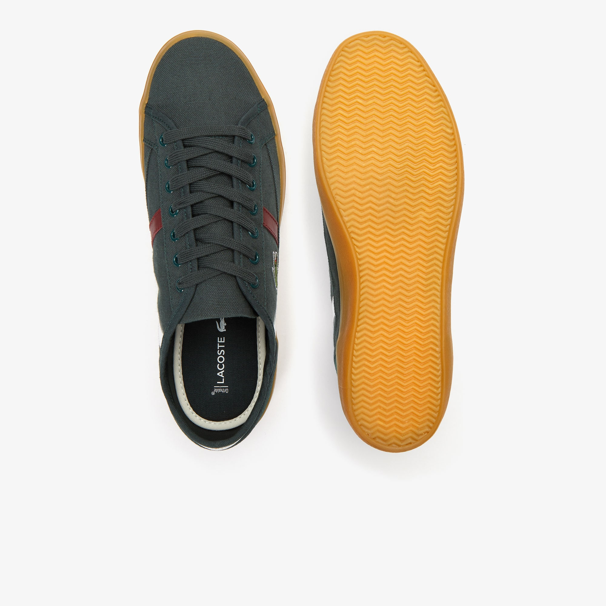Men's Sideline Canvas and Two-Tone Leather Sneakers