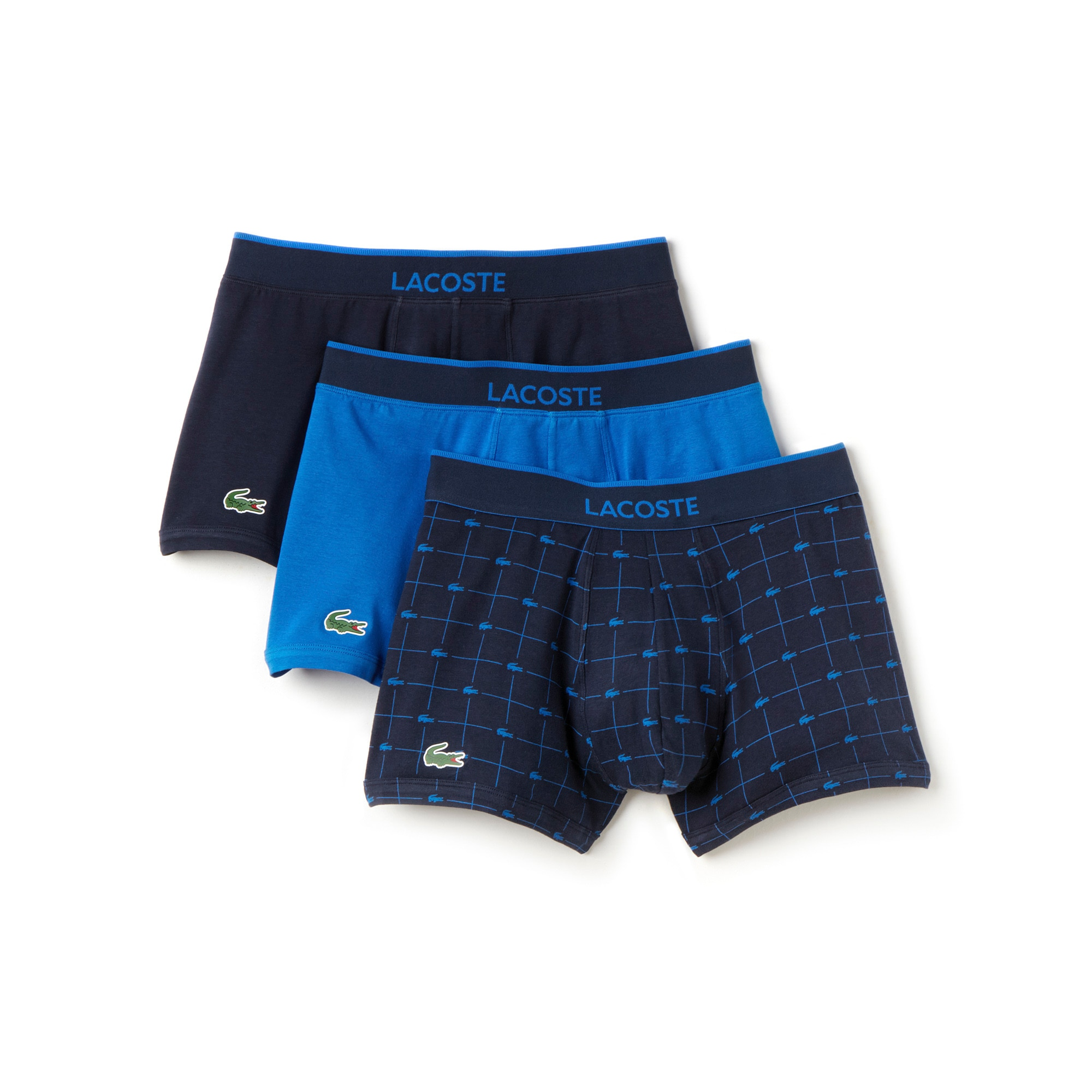 Men's 3 Pack Signature Print Cotton Stretch Trunk