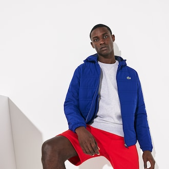 라코스테 Lacoste Mens SPORT Packable Water-Resistant Zip Jacket,Navy Blue / Navy Blue - BNB