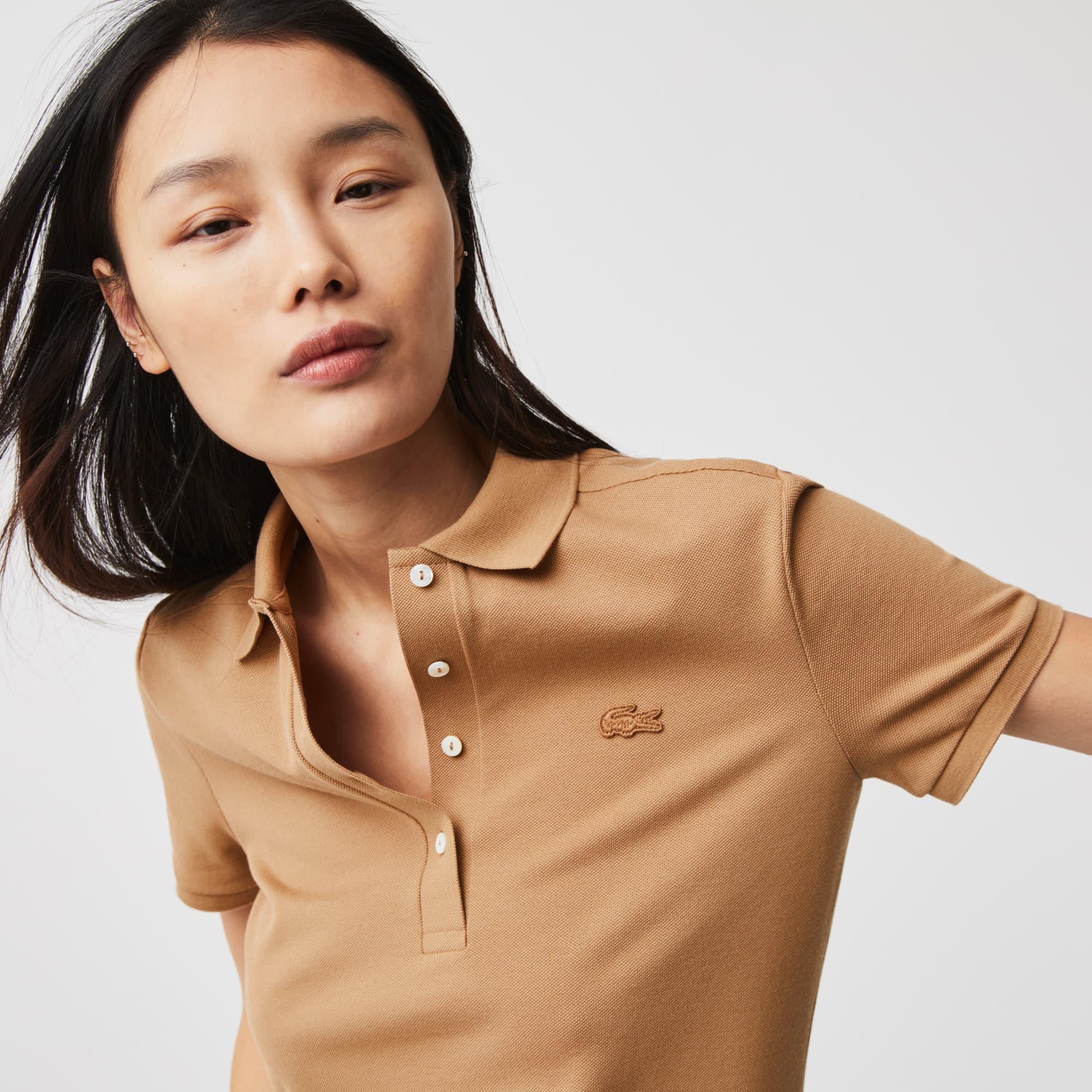 라코스테 Lacoste Womens Stretch Cotton Pique Polo Shirt