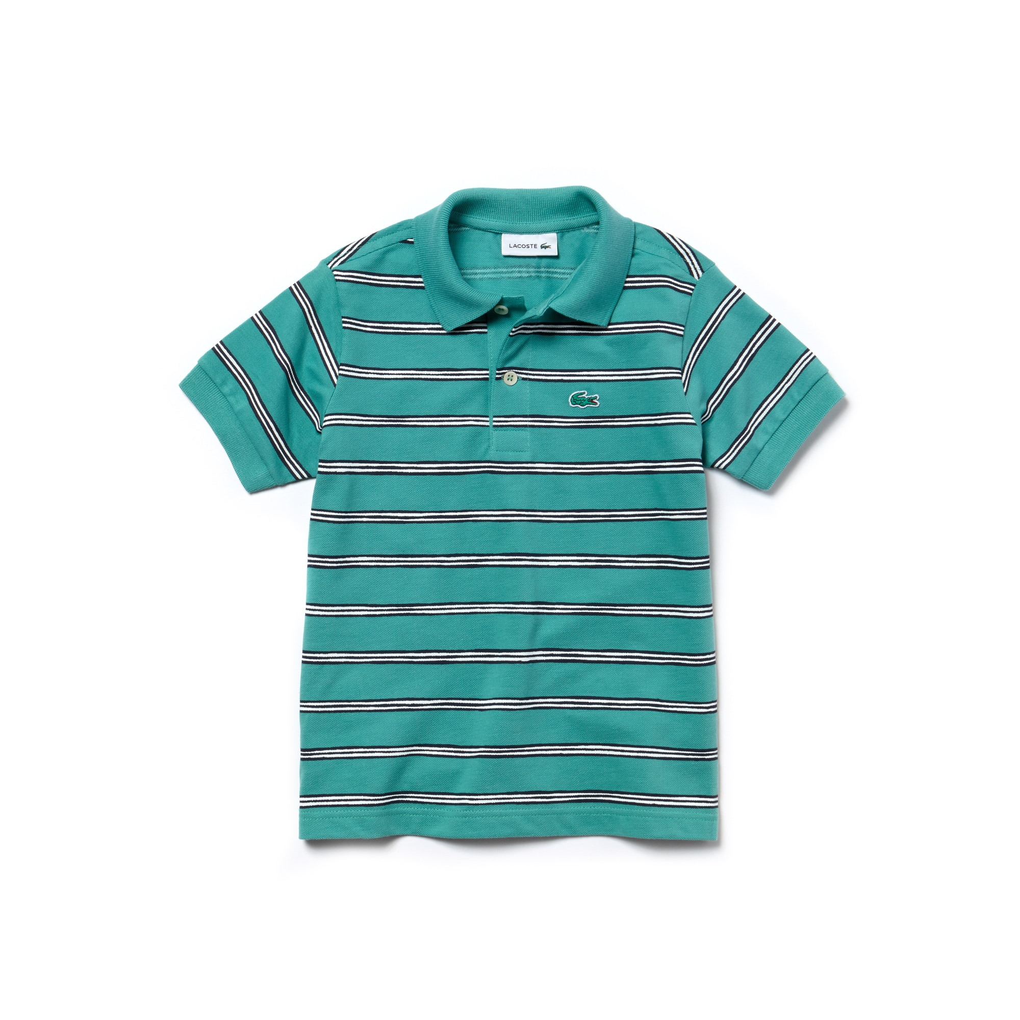 Boys' Striped Cotton Mini Piqué Polo