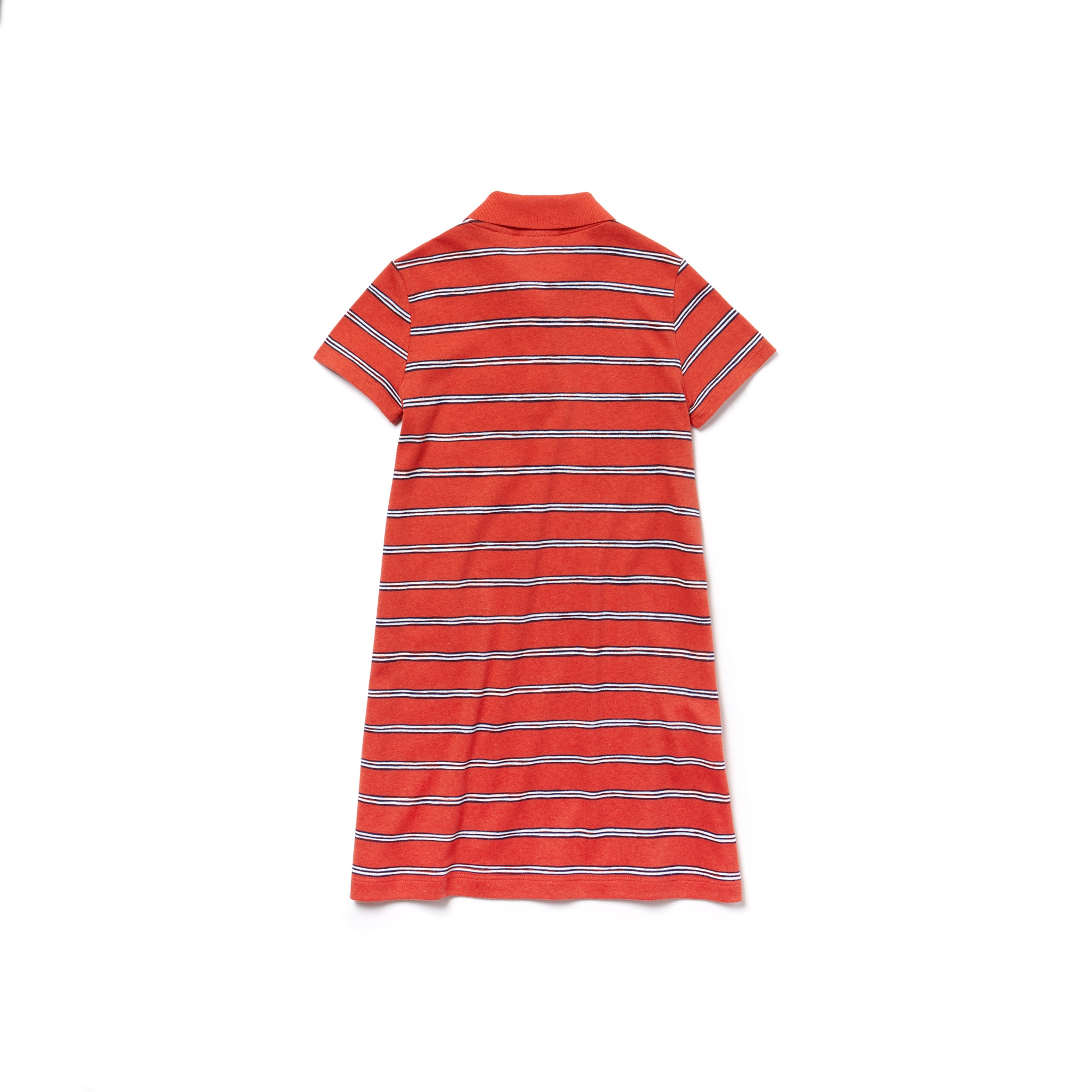 Girls' Striped Cotton And Linen Polo Dress