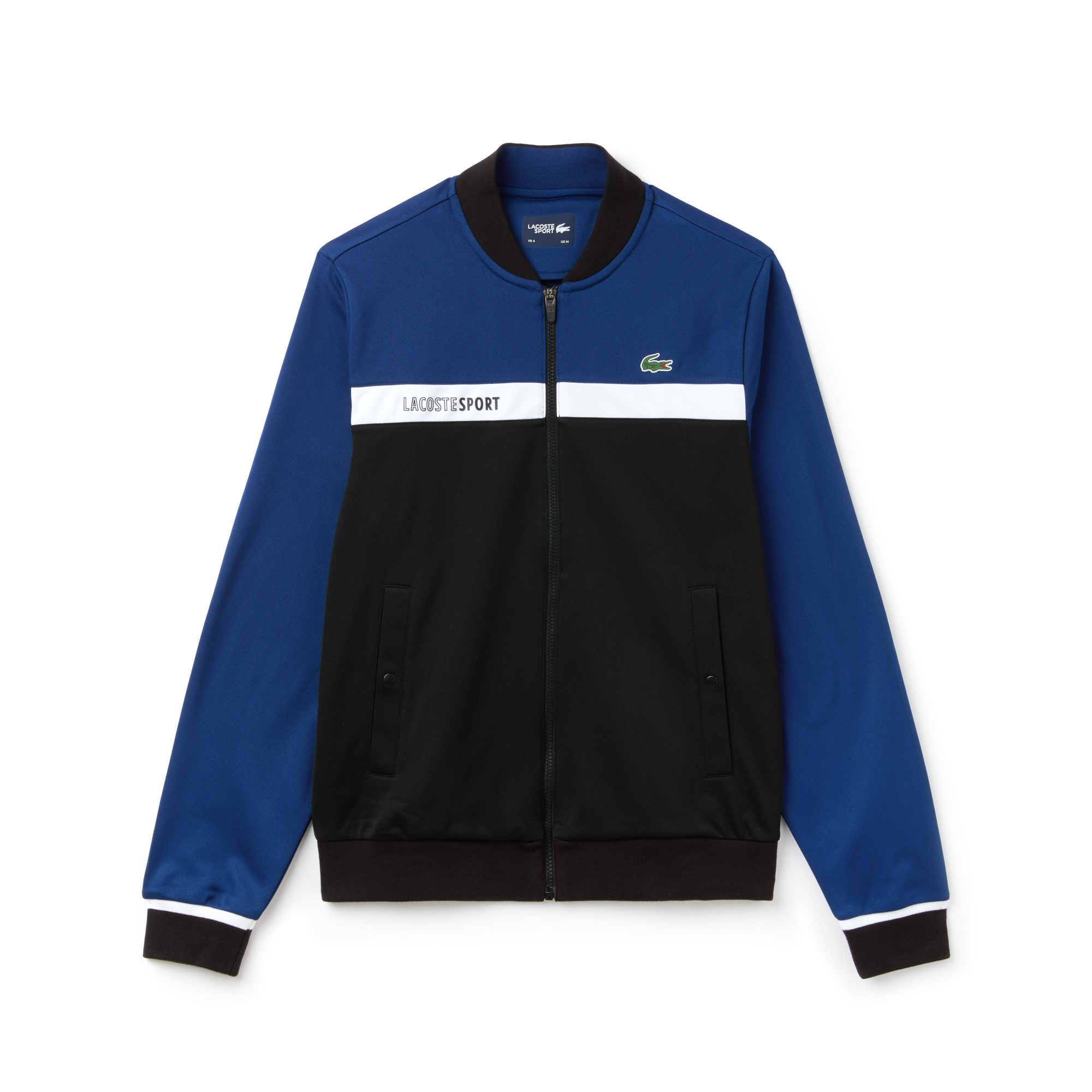 d17874714f Men's SPORT Colorblock Zip Piqué Tennis Sweatshirt | LACOSTE