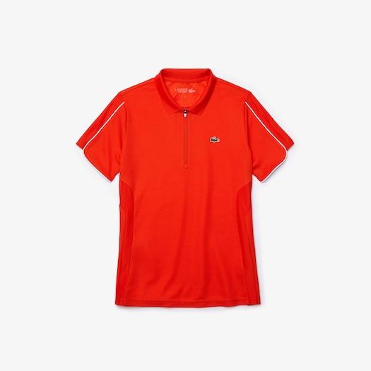 라코스테 스포츠 우먼 집업 폴로 셔츠 Lacoste Womens SPORT Breathable Zip-Up Polo Shirt