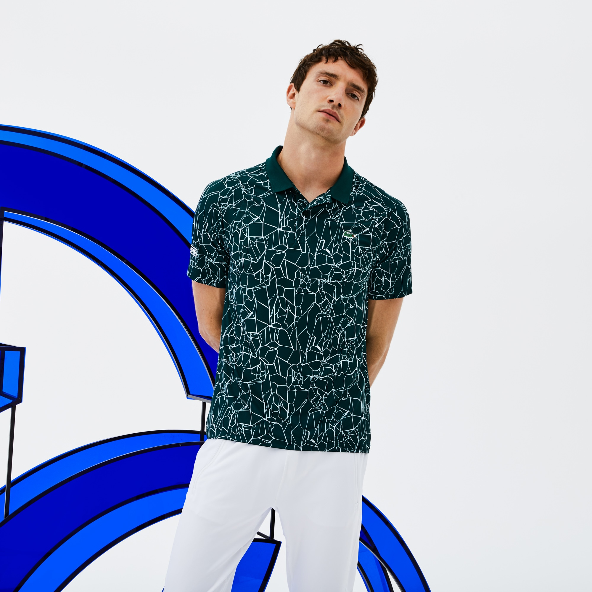 Men's SPORT Print Technical Jersey Polo -  x Novak Djokovic On Court Premium Edition