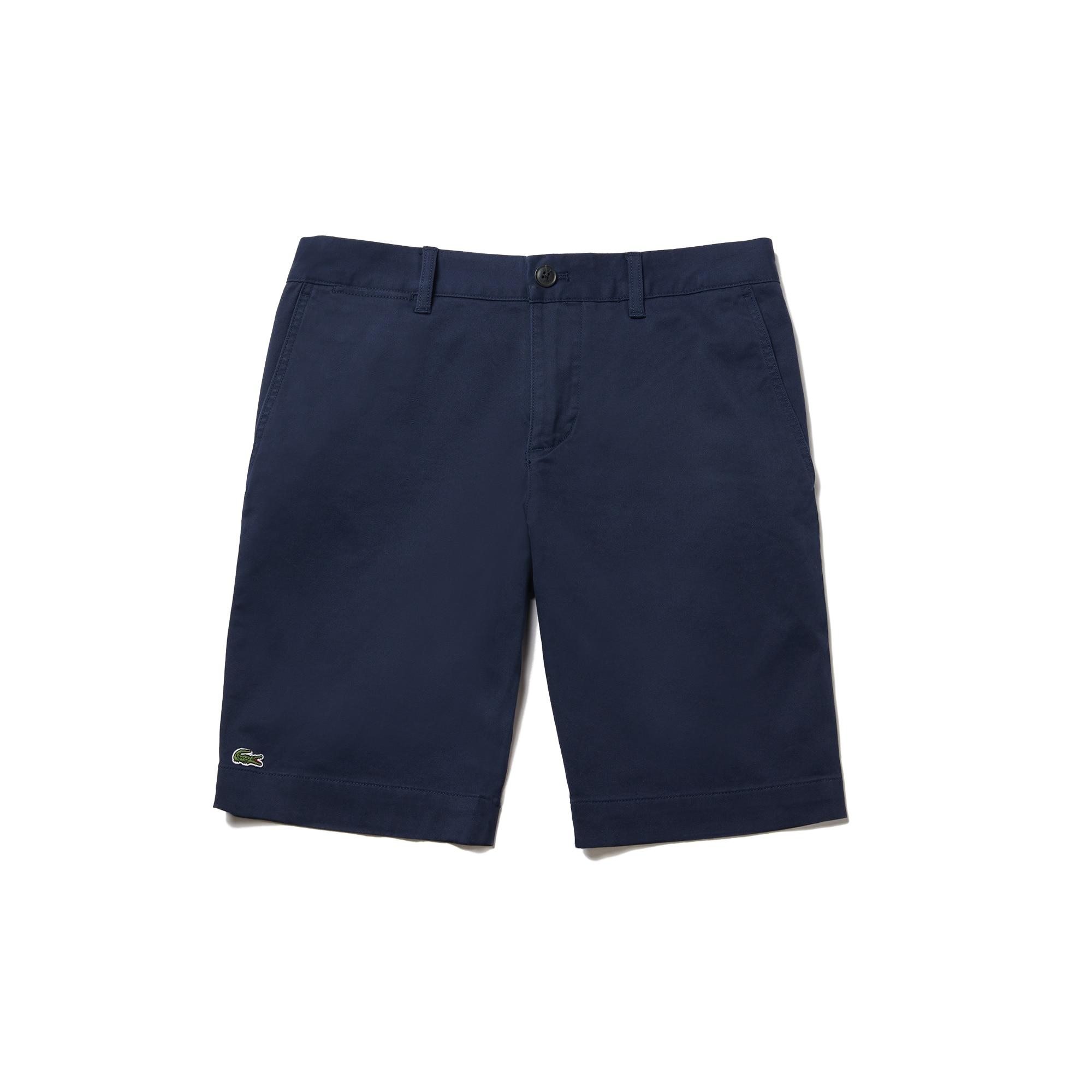 라코스테 반바지 Lacoste Mens Slim Fit Stretch Bermuda Shorts,NAVY BLUE