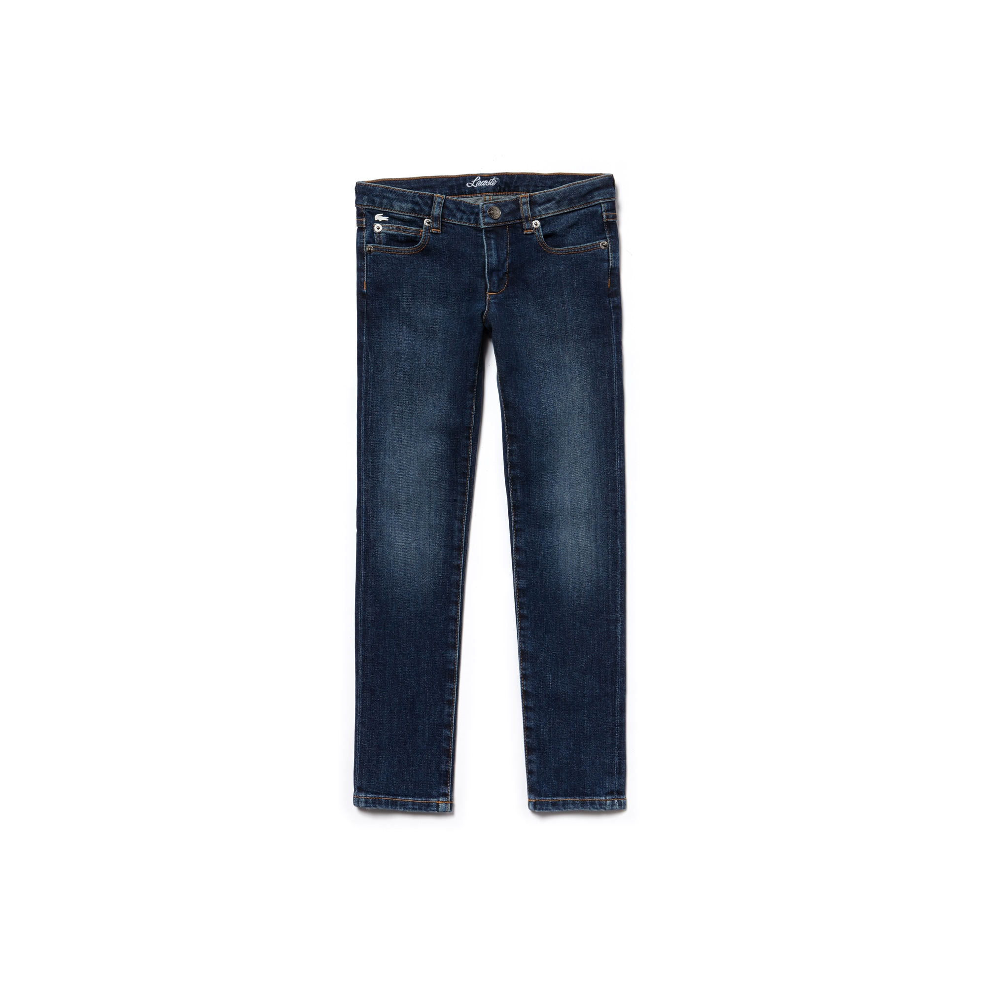 Girls' Blue Stretch Cotton Denim Jeans