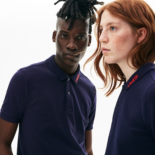 라코스테 Lacoste Unisex LIVE Slim Fit Petit Pique Polo,Navy Blue / White - QRN (Selected colour)