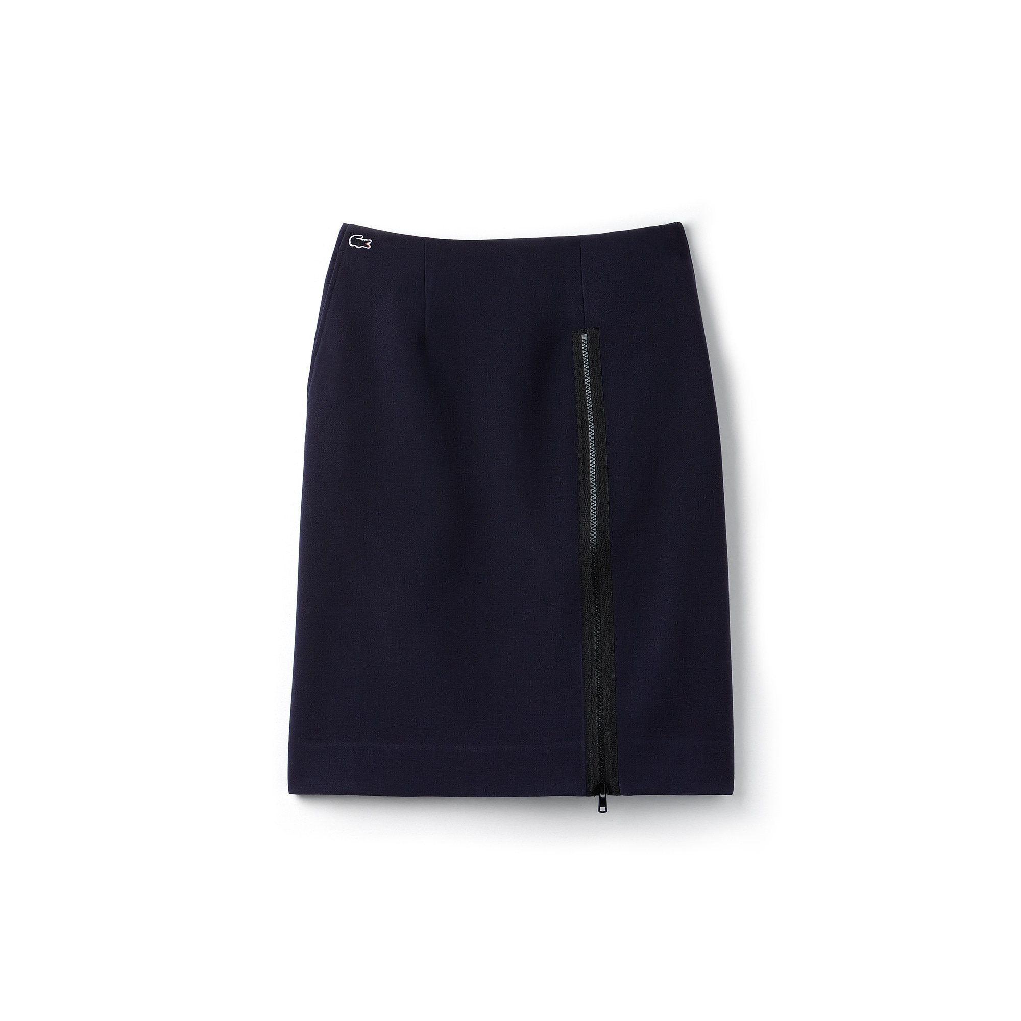 Women's Lacoste LIVE Zippered Split Stretch Fabric Skirt
