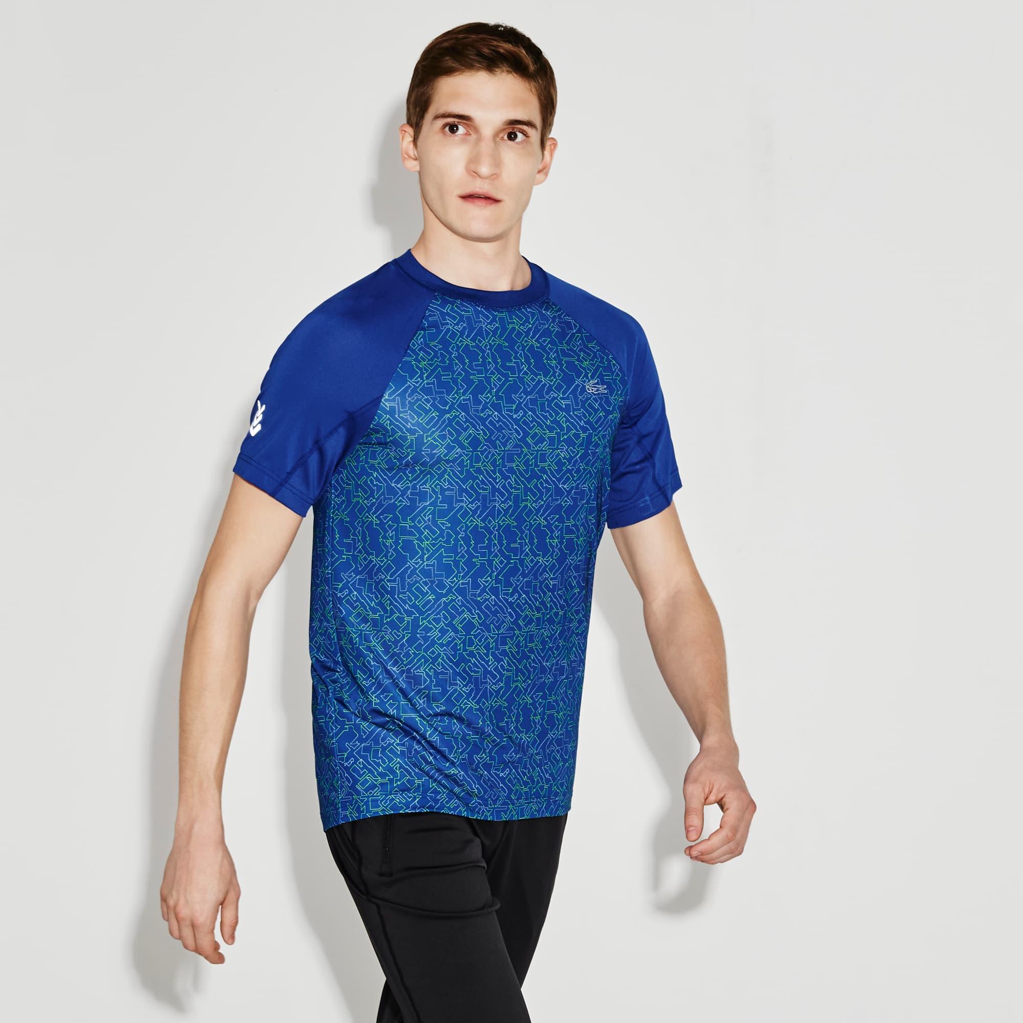 Men's SPORT Print Technical Jersey Tennis T-Shirt