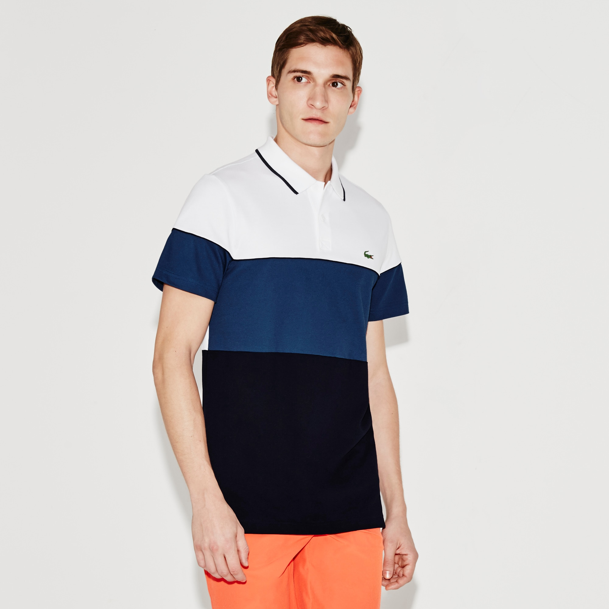 Men's SPORT Colorblock Technical Piqué Golf Polo