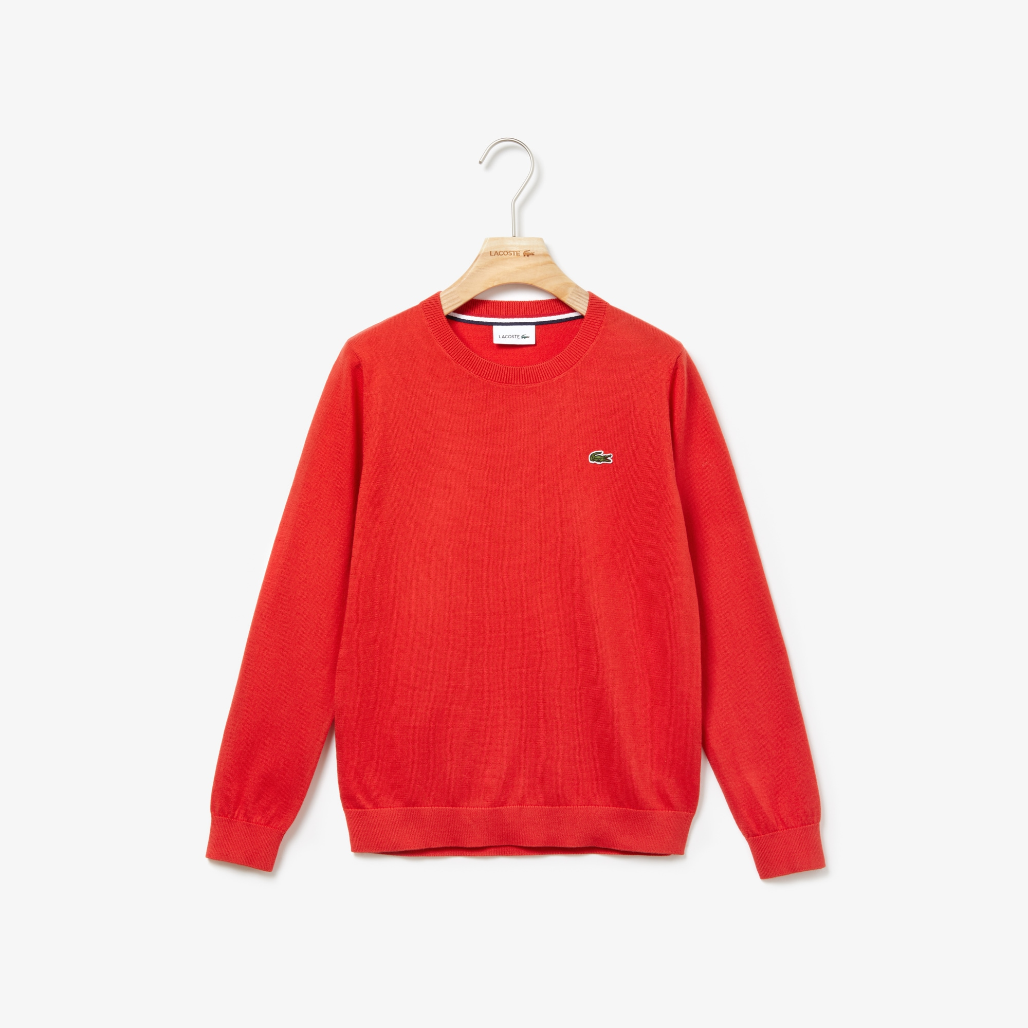 Boys' Crew Neck Cotton Jersey Sweater