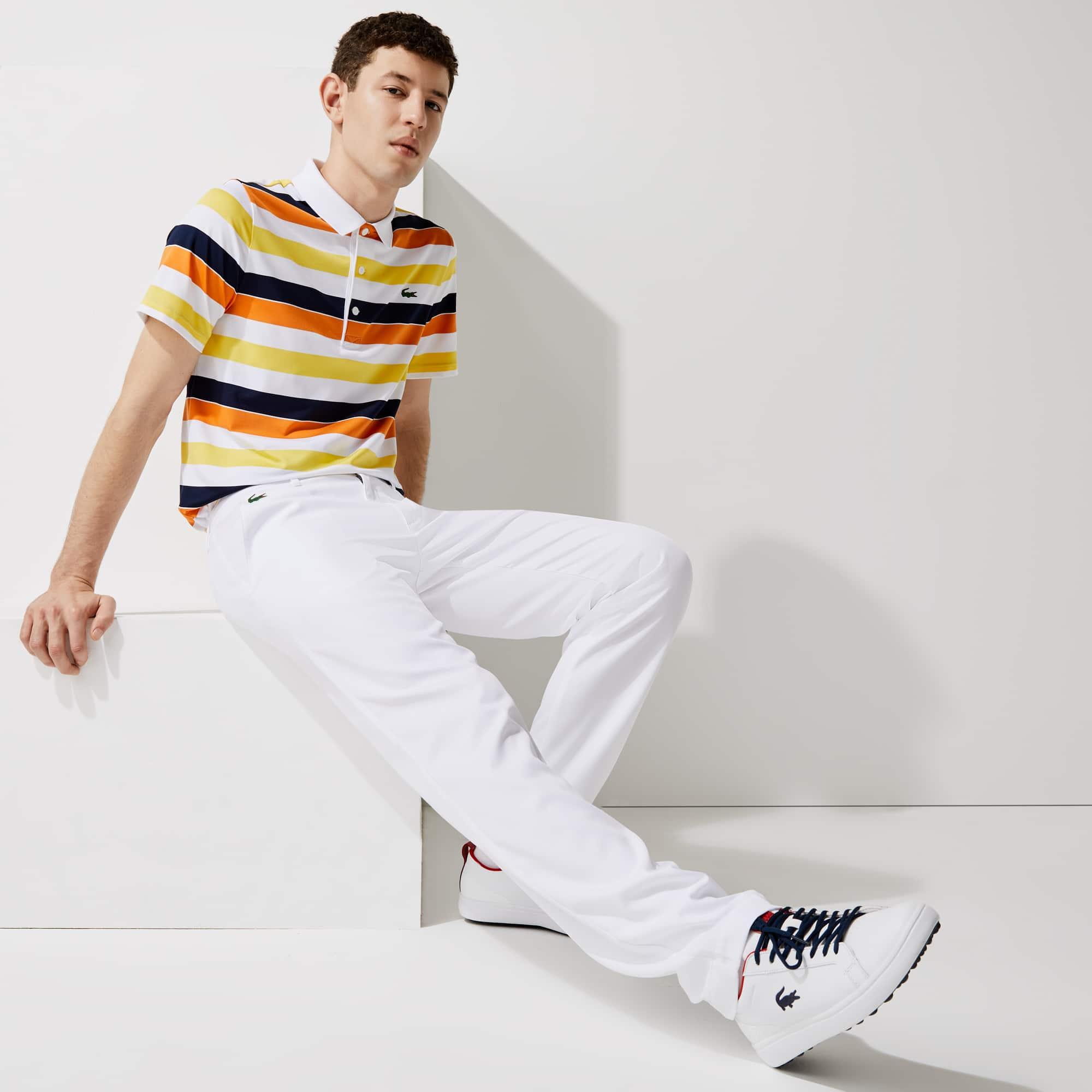 라코스테 Lacoste Men's SPORT Stretch Chino Golf Pants,White 001