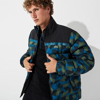 라코스테 스포츠 자켓 Lacoste Mens SPORT Color-Blocked Water Resistant Quilted Jacket