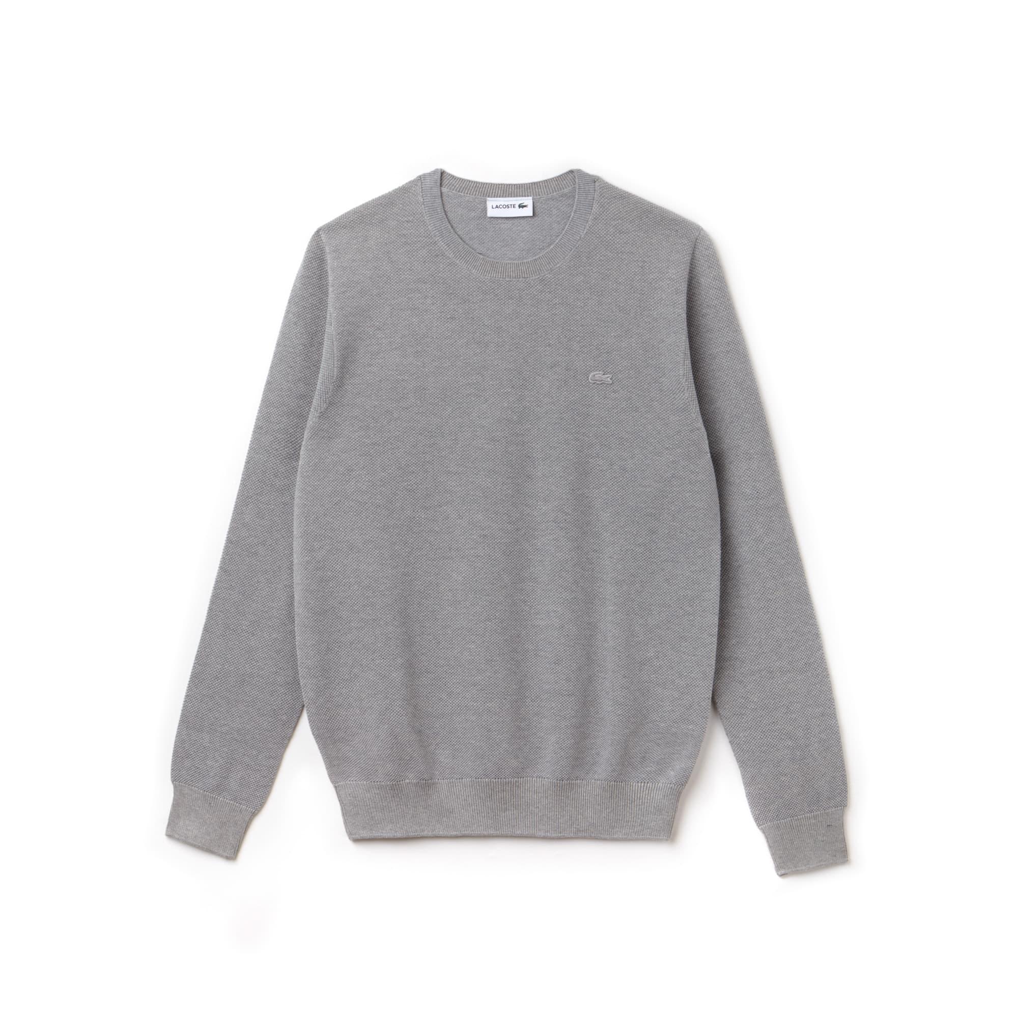 90243e4d4a3 Men's Crew Neck Cotton Piqué Sweater