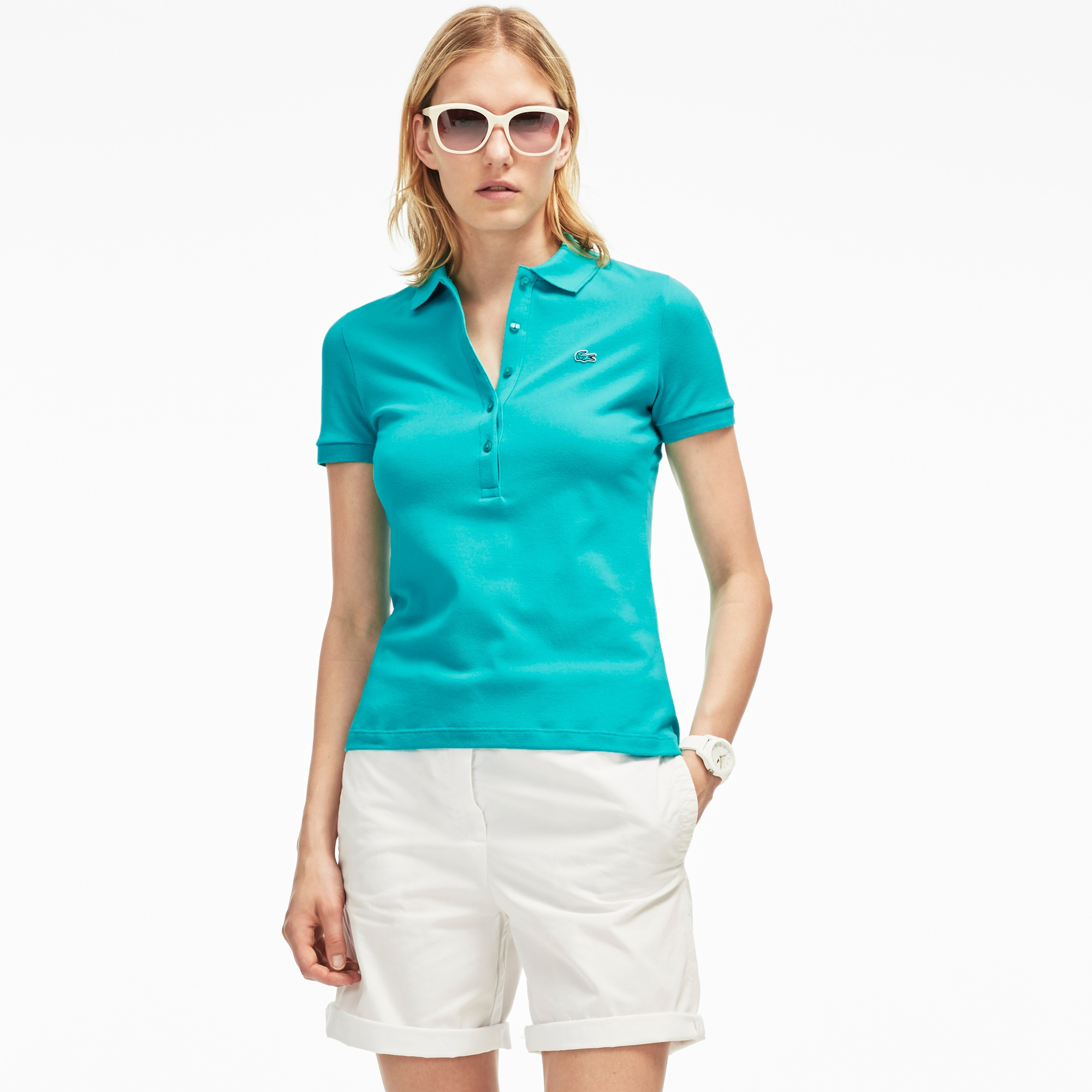 Women's Slim Fit Stretch Piqué Polo Shirt