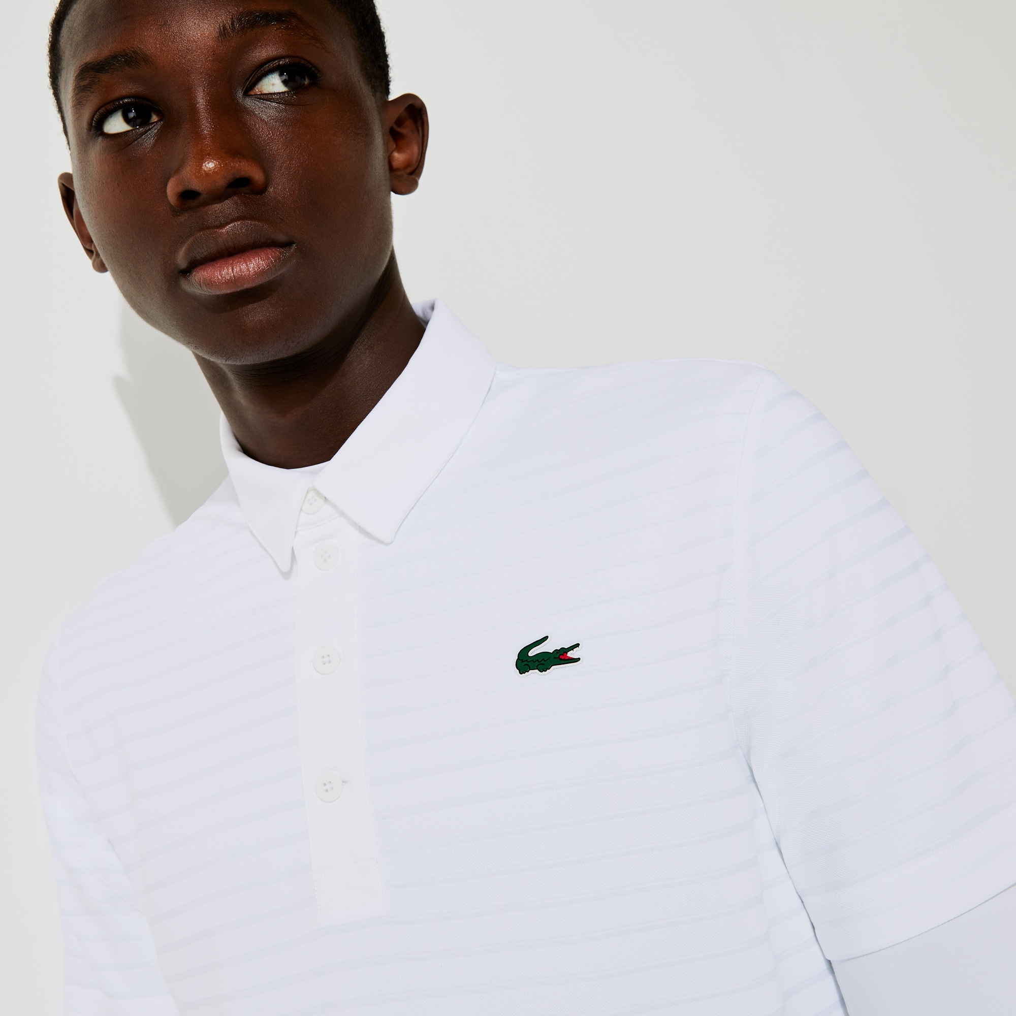 라코스테 Lacoste Mens SPORT Textured Breathable Golf Polo Shirt