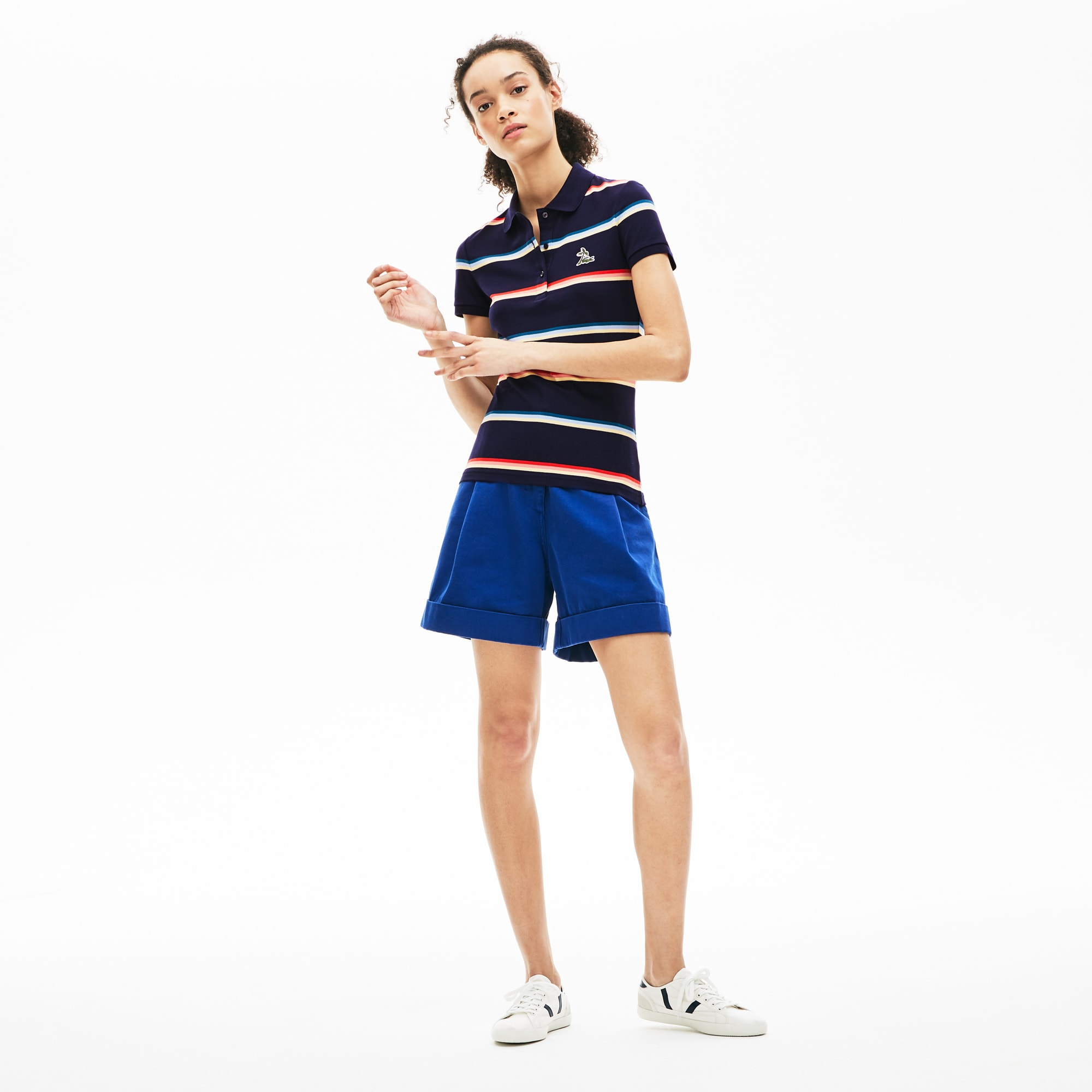 Women's Hooded Cotton Piqué Polo Shirt