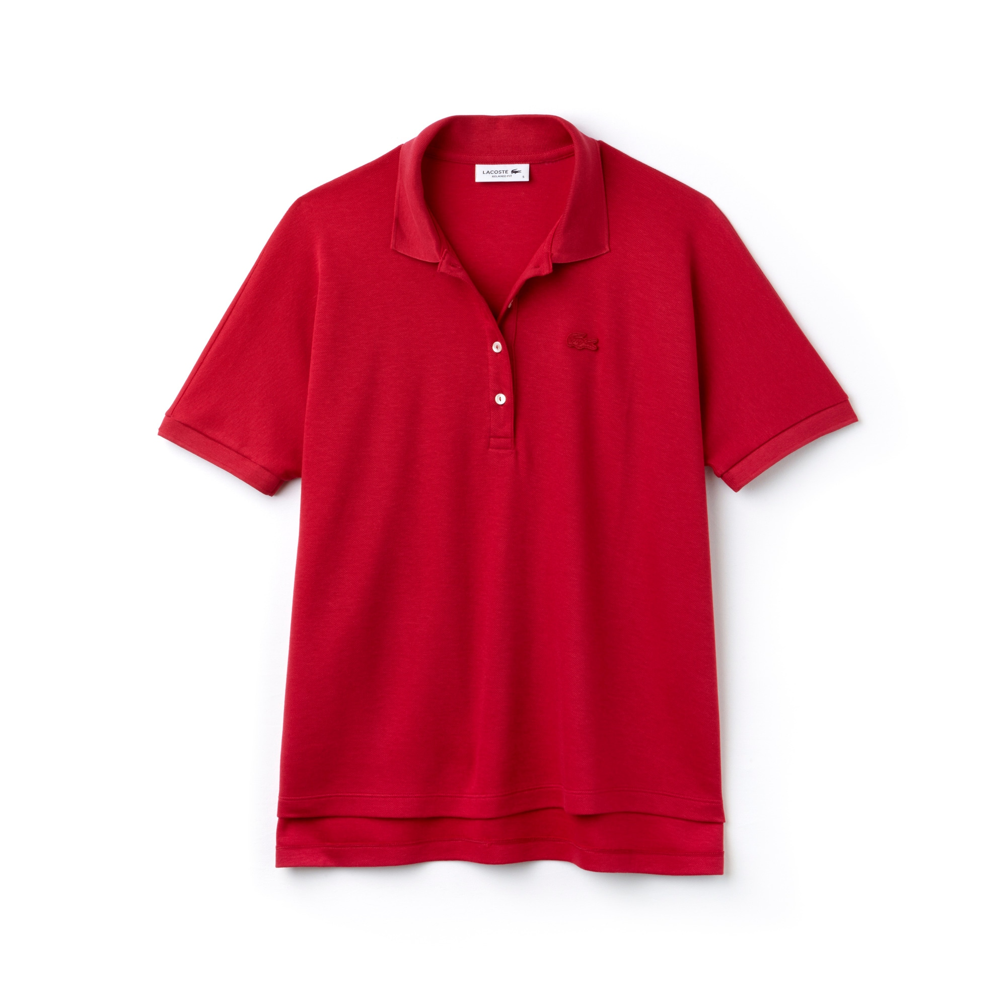 Women's Modern Fit Flowing Stretch Cotton Piqué Polo