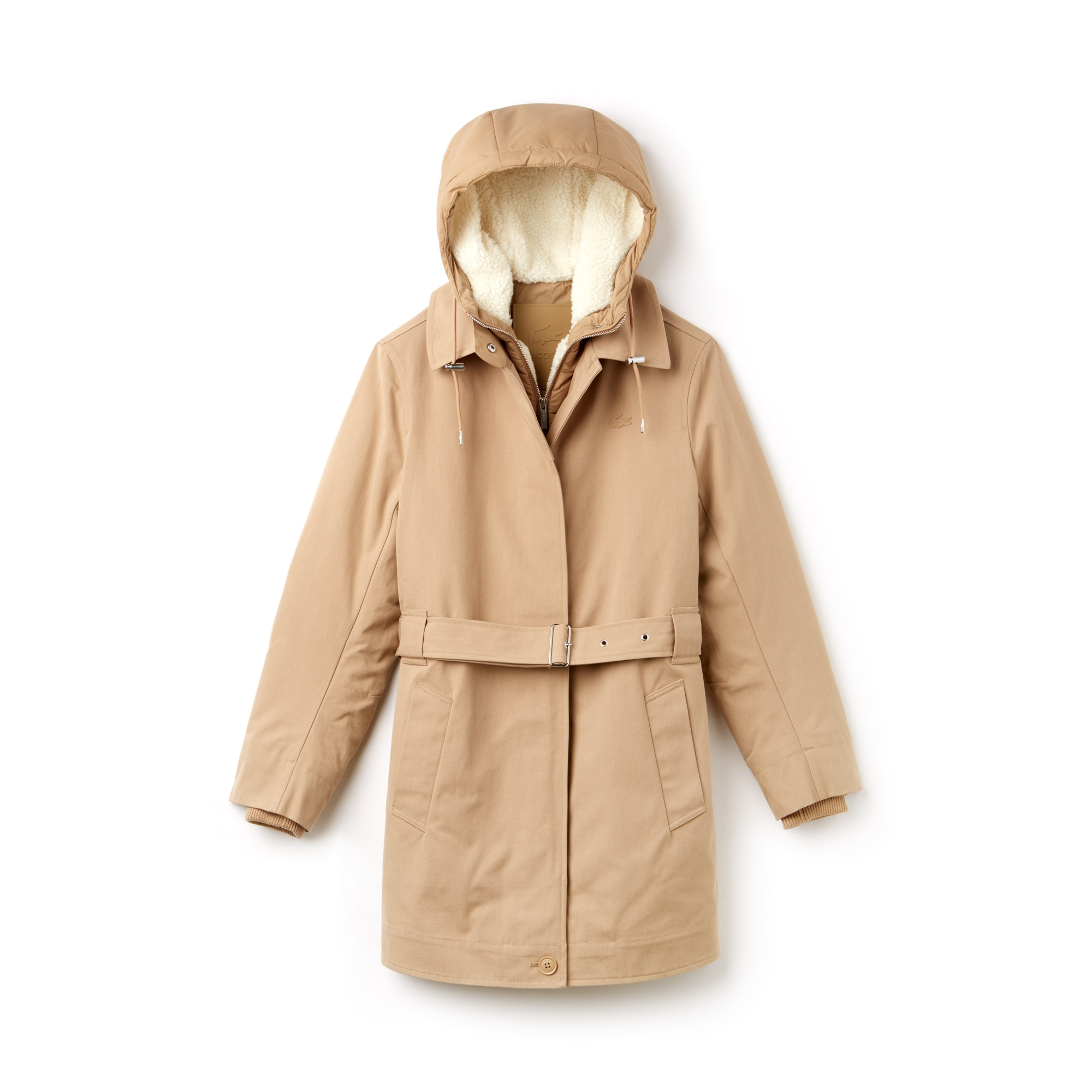 Women's 3-in-1 Detachable Jacket Hooded Cotton Canvas Parka