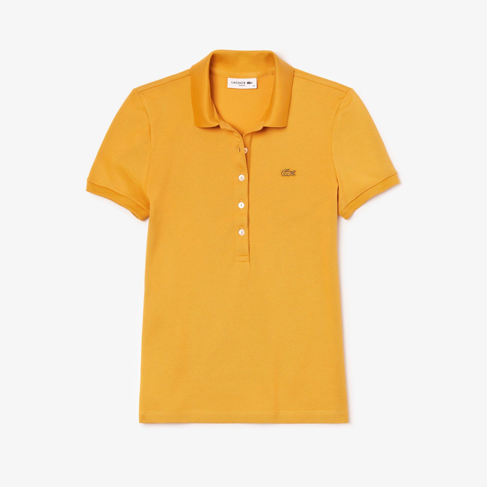 라코스테 반팔 카라티 Lacoste Womens Slim Fit Stretch Mini Cotton Pique Polo Shirt,darjali