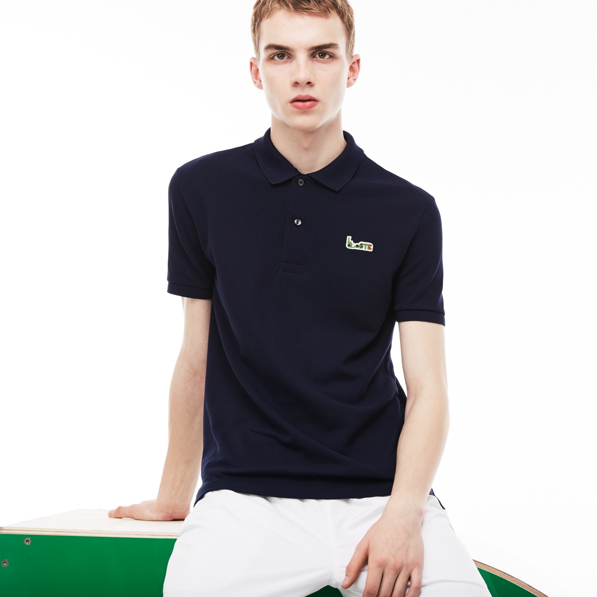 Men's M/M Collab Slim Fit Thick Cotton Piqué Polo