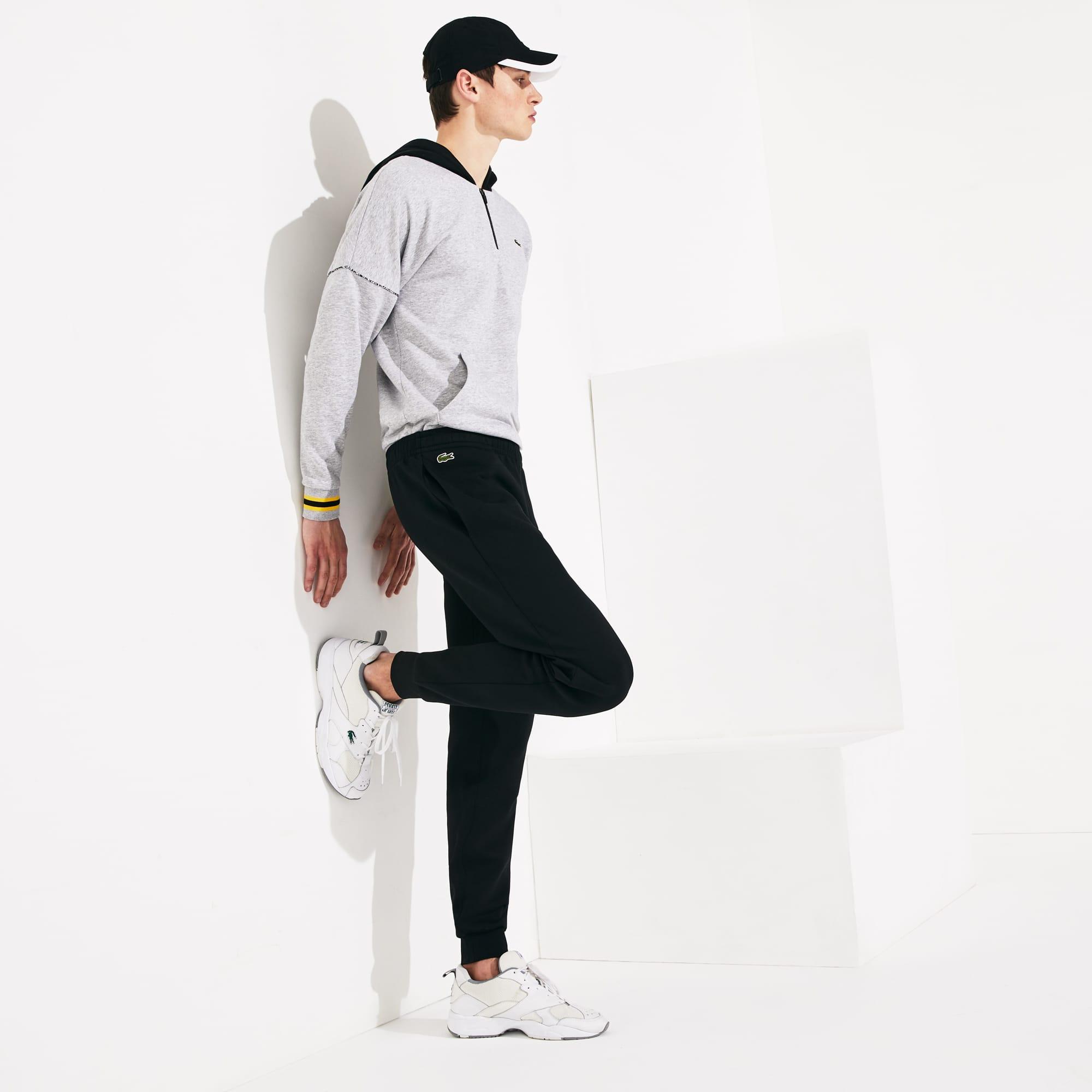 라코스테 Lacoste Mens SPORT Fleece Tennis Track Pants,Black - 031