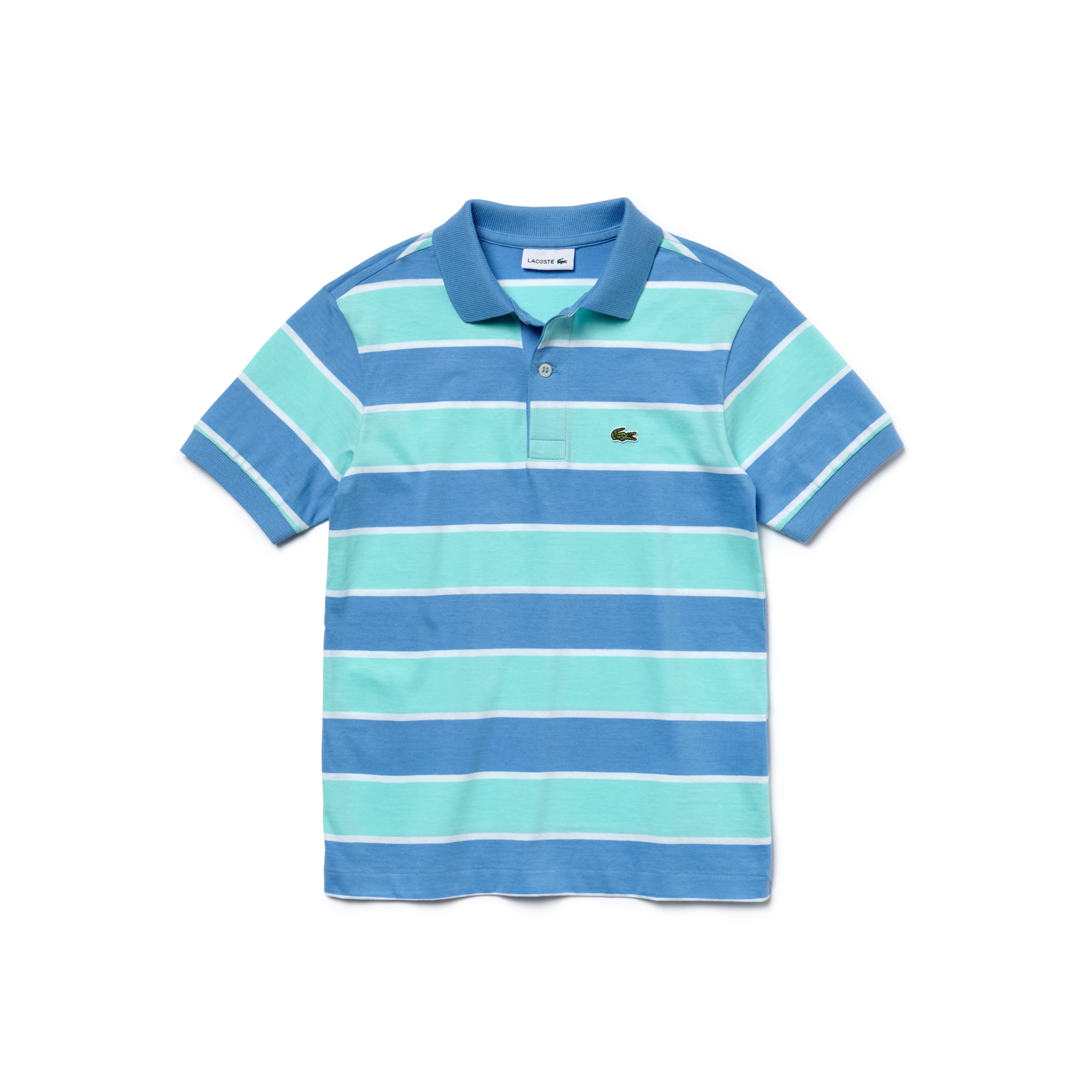 Boy's Lacoste Striped Jersey Polo