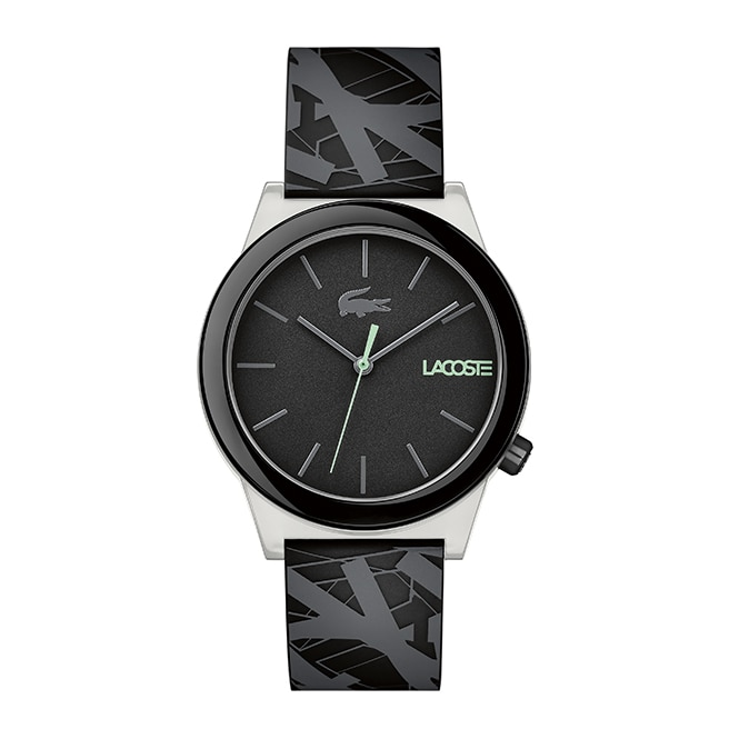 Men's Motion Luminescent Case /Black Silicone Strap