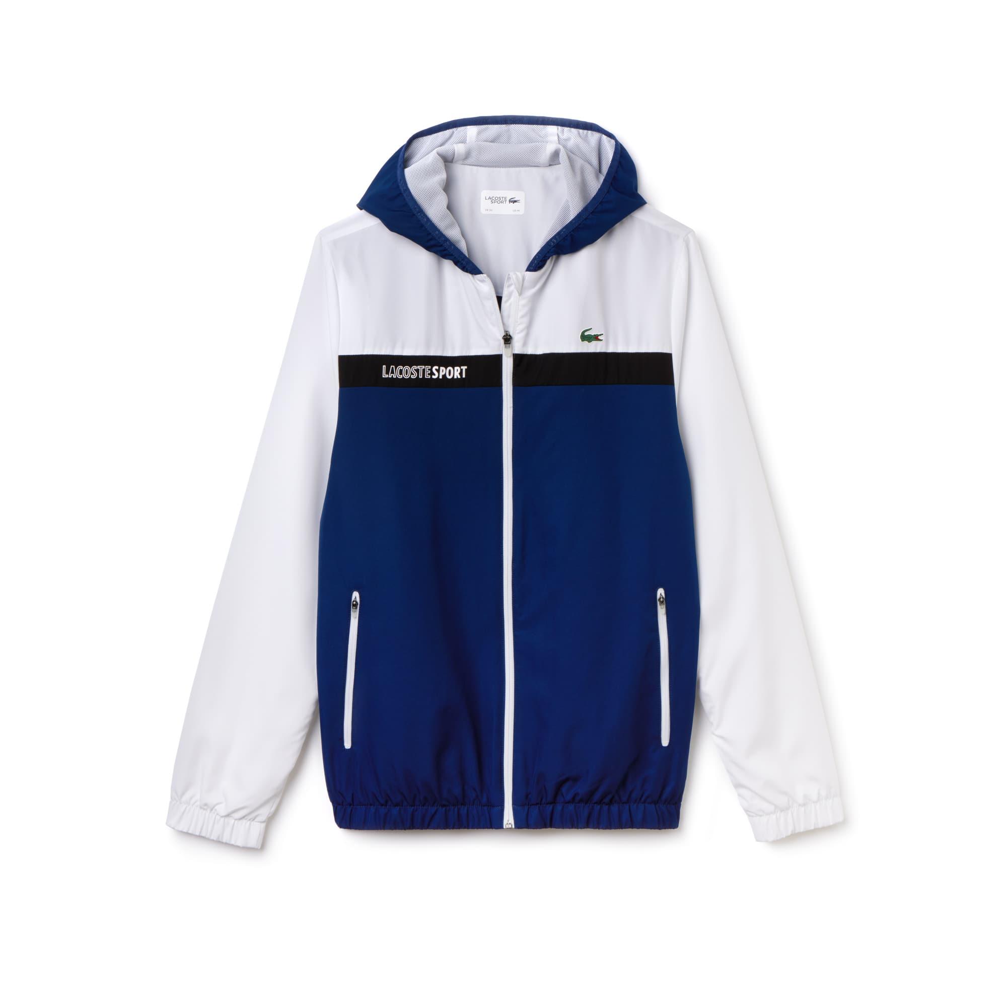 a7ba6a3c5af1d Men s SPORT Hooded Colorblock Taffeta Tennis Jacket Men s SPORT Hooded  Colorblock Taffeta Tennis Jacket