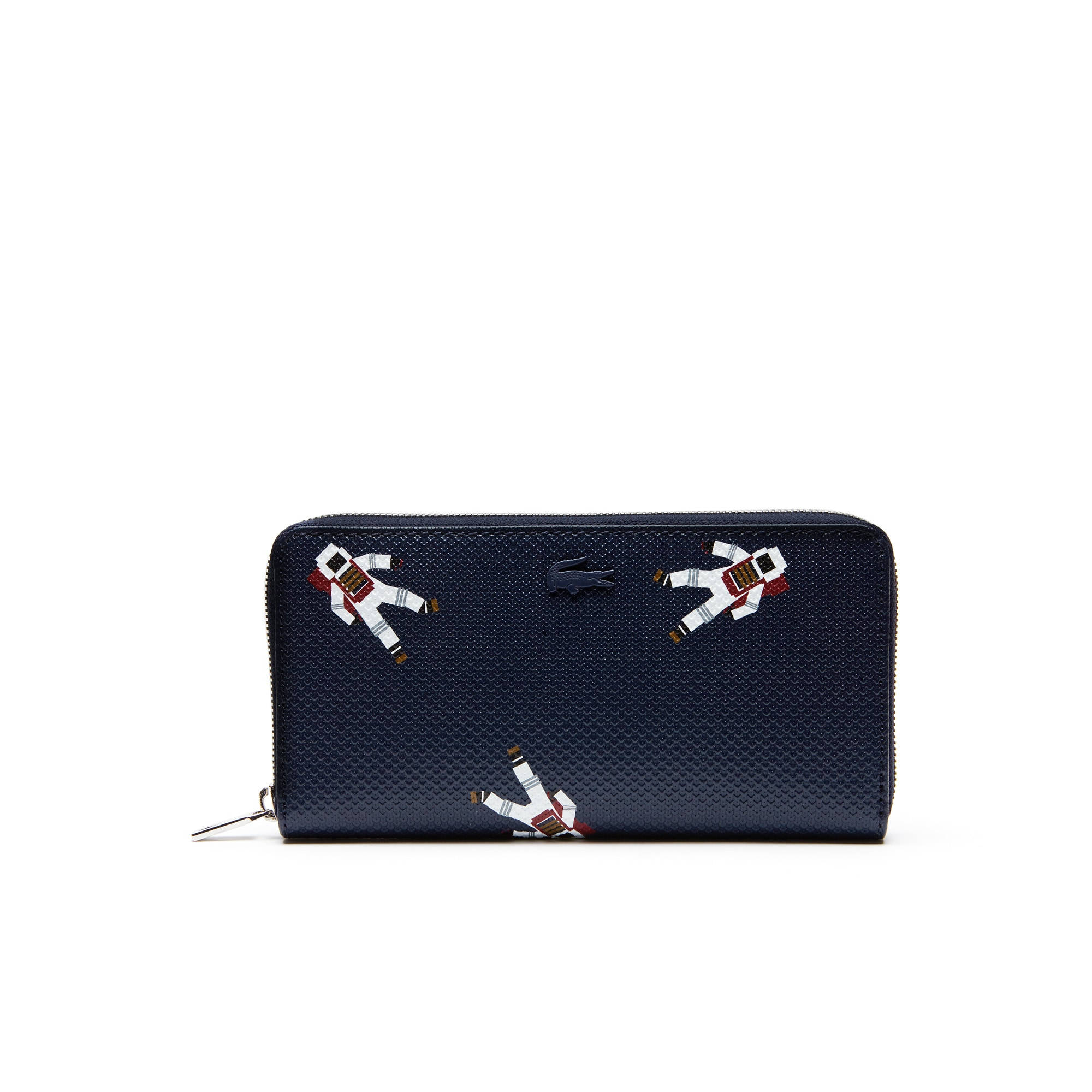 Women's Chantaco Zippered Astronaut Print Leather Wallet
