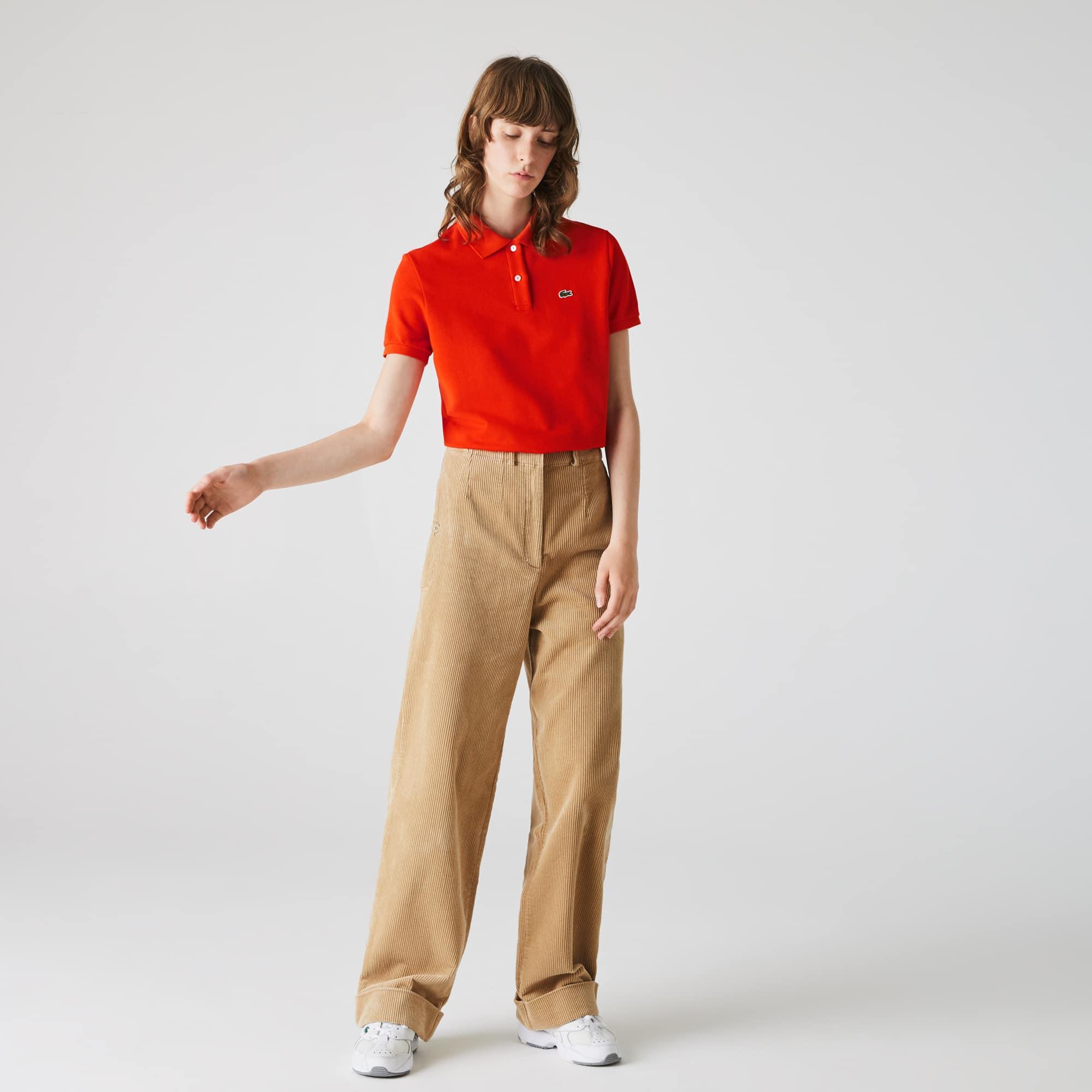 Womens Lacoste Regular Fit Soft Cotton Petit Pique Polo Shirt