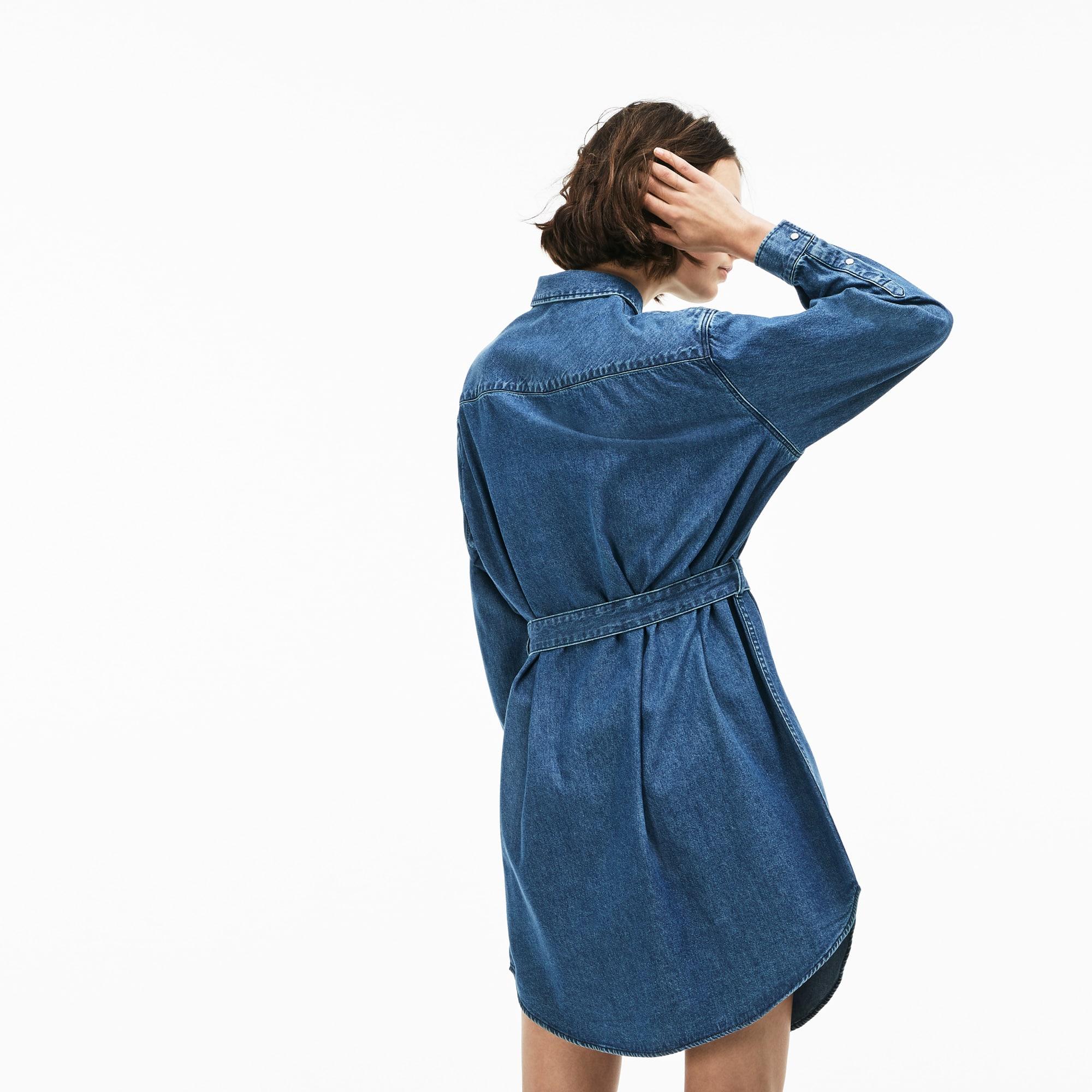 ec2bdfecc5 Robe chemise Lacoste LIVE en jean | LACOSTE