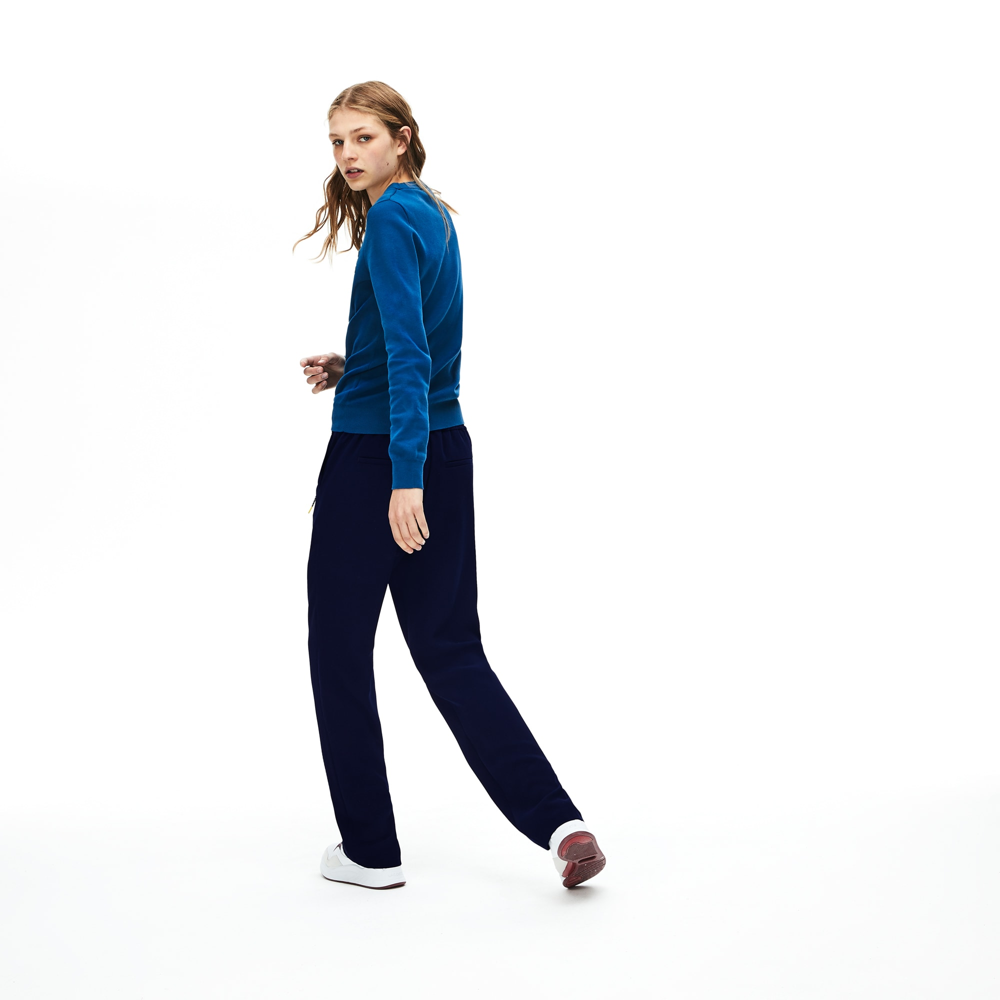 Women's Ridged Twill Pull-On Sweatpants