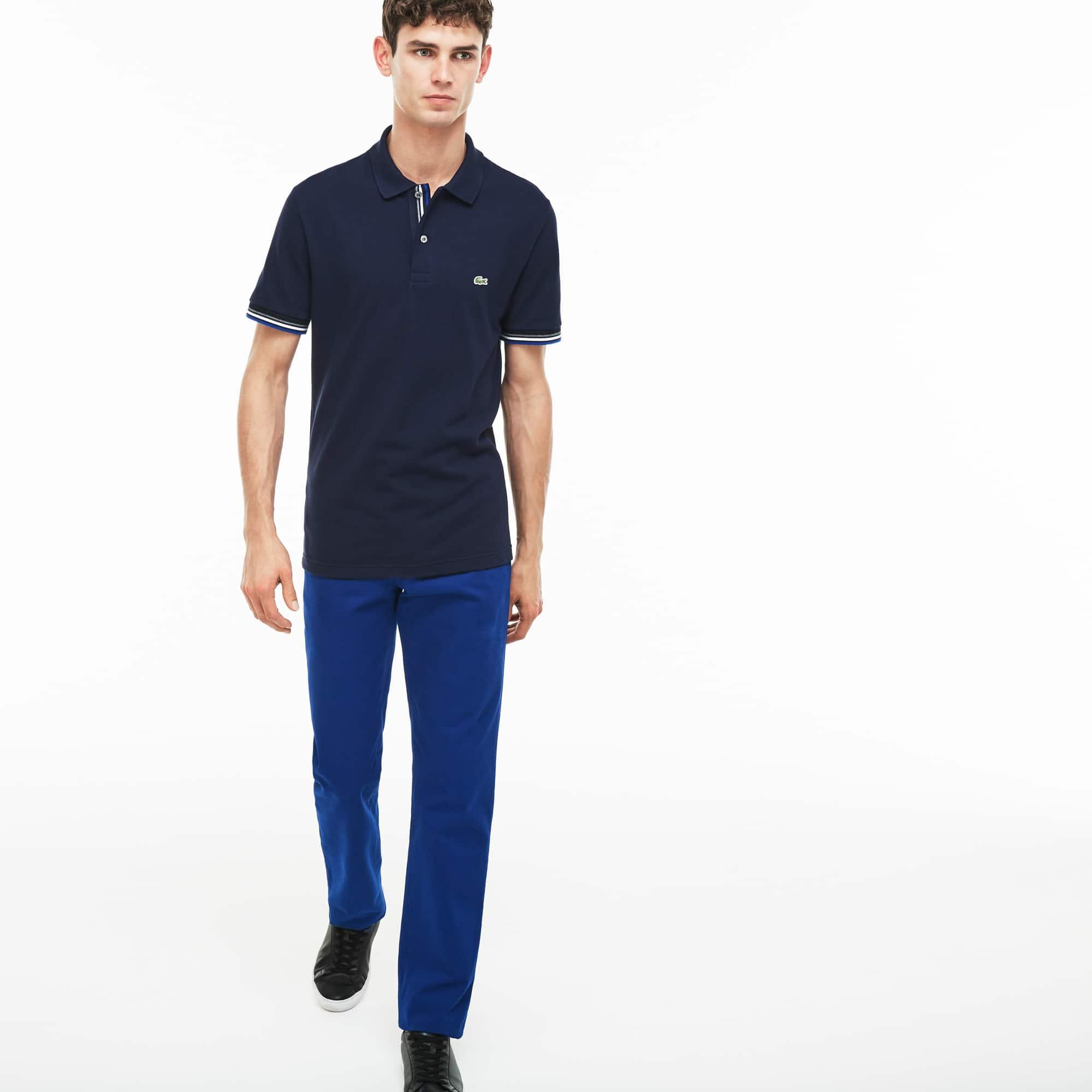 256cec6fb2 Men'S Regular Fit Cotton Gabardine Chino Pants in Navy Blue