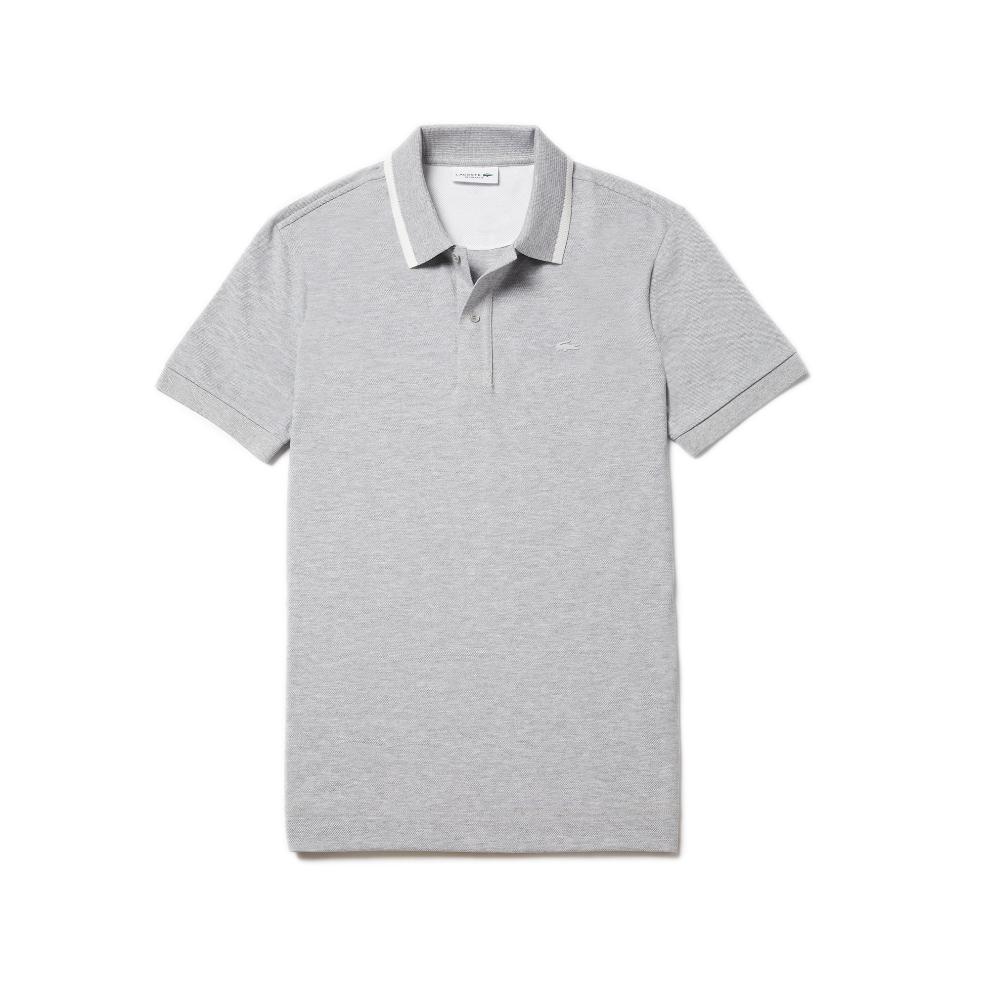 Men's Regular Fit Contrast Piqué Polo
