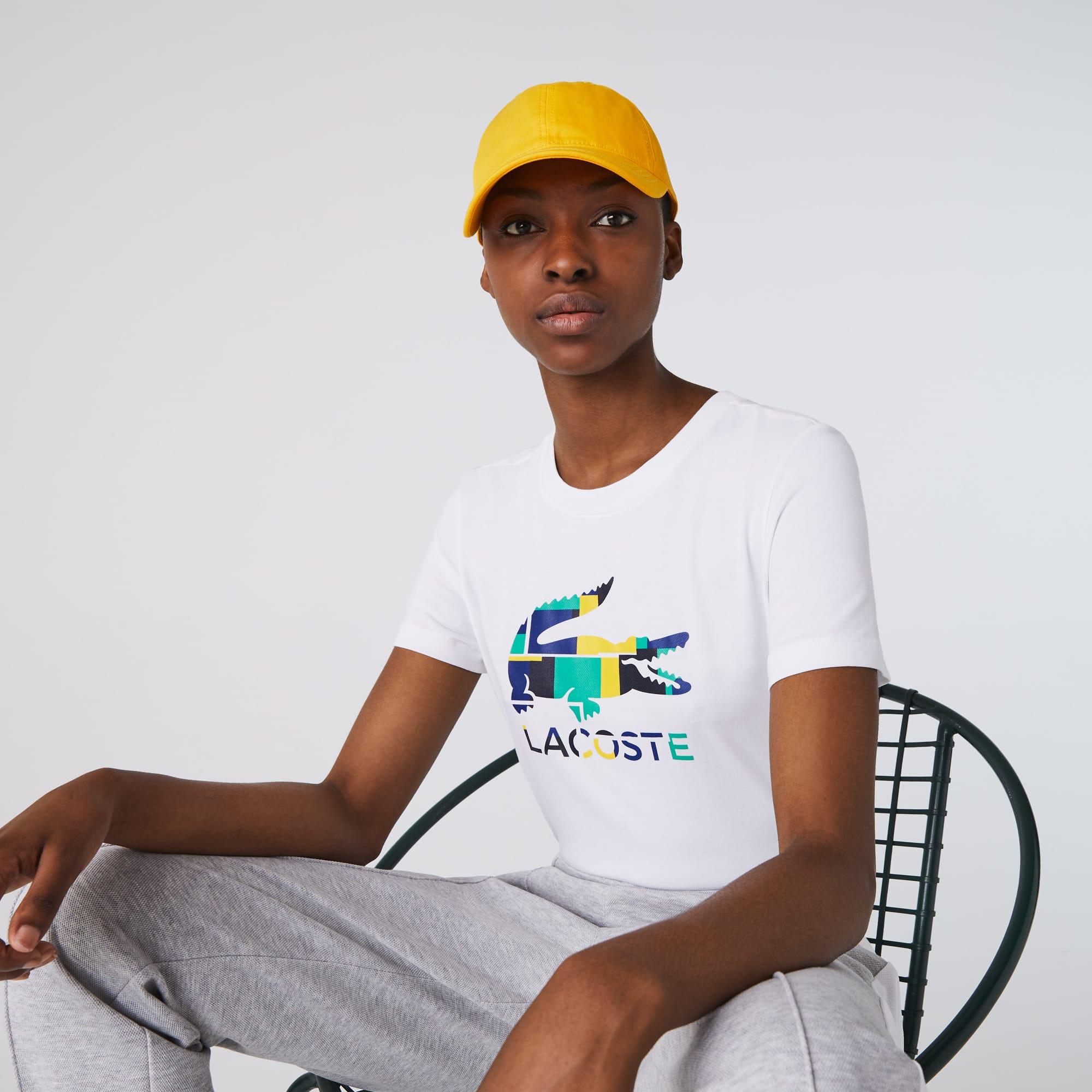 Lacoste Womens SPORT Logo Print Organic Cotton Tennis T-shirt