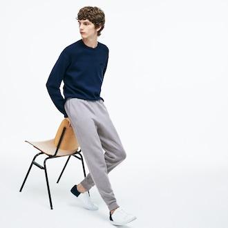 라코스테 코튼 앤 울 플리스 스웻 팬츠 Lacoste Mens Motion Cotton And Wool Fleece Sweatpants,Grey