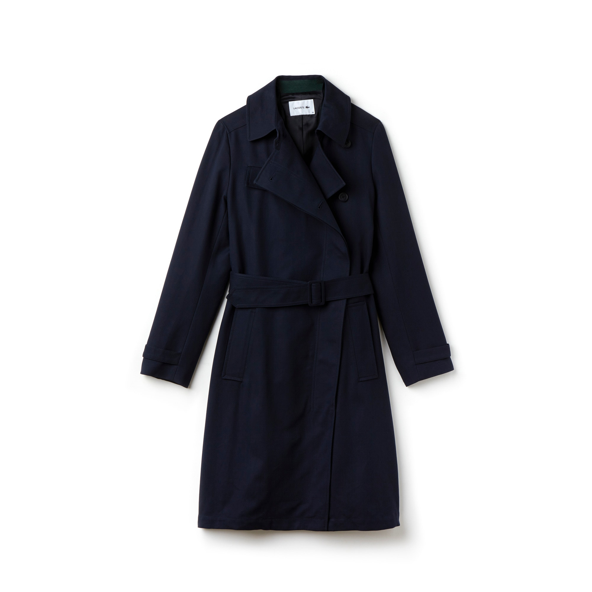 Women's Belted Gabardine Trench Coat