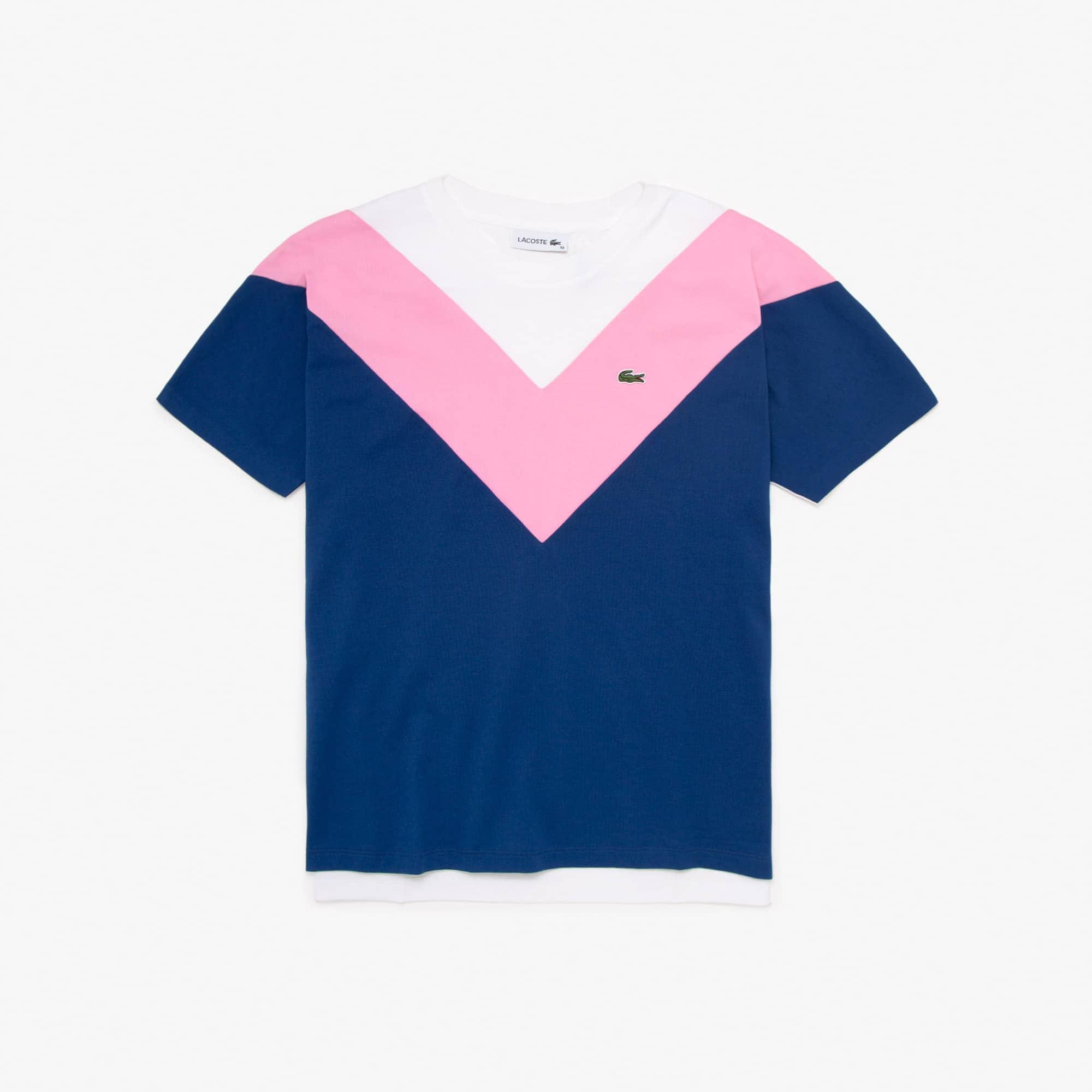 Lacoste Womens Colorblock Soft Cotton T-shirt