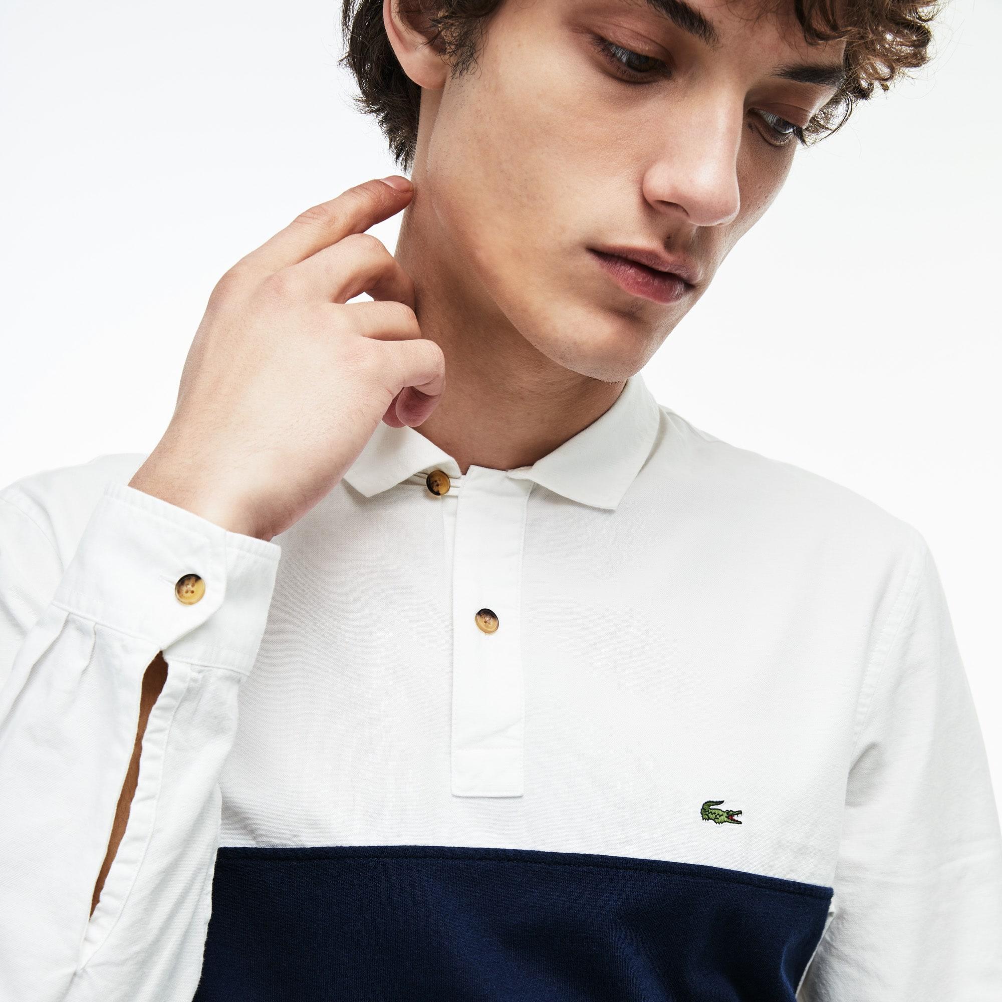 6e2fde95825 Camisa de hombre en algodón regular fit con detalles a contraste