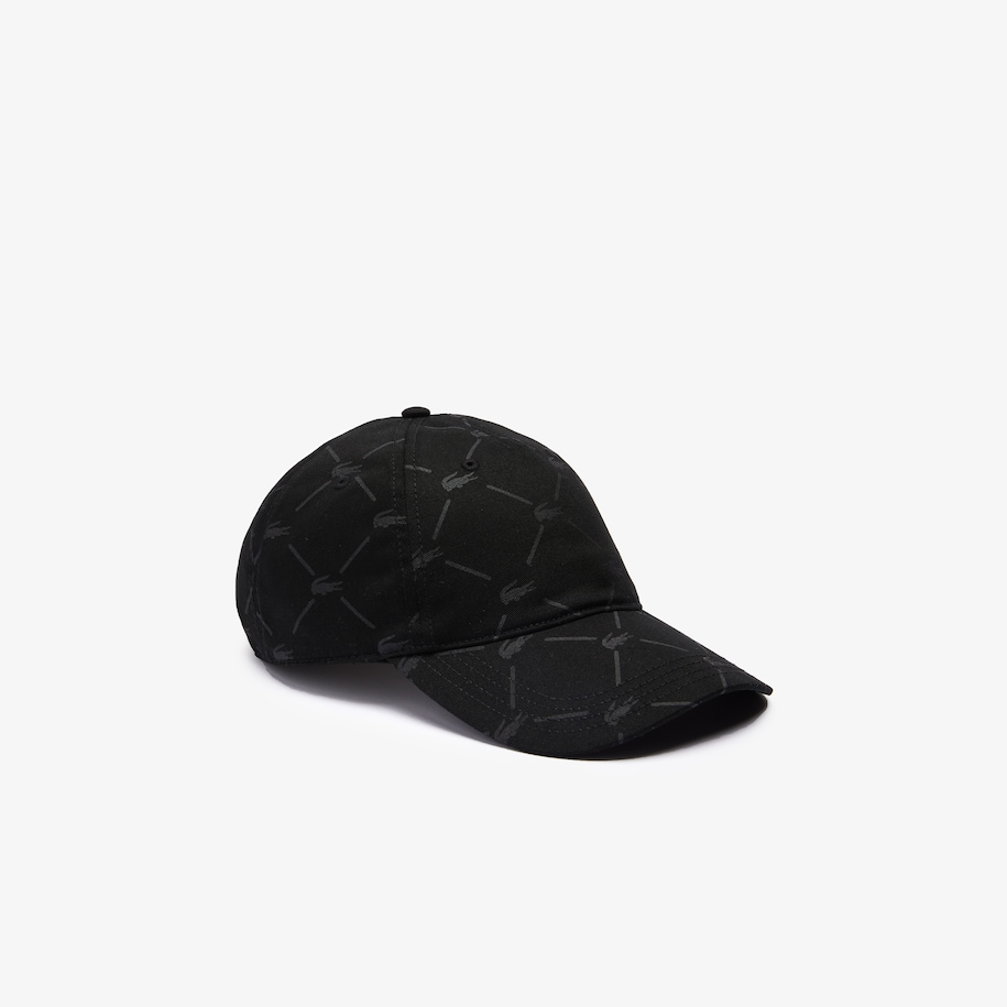 Unisex LIVE Monogram Printed Cotton Cap